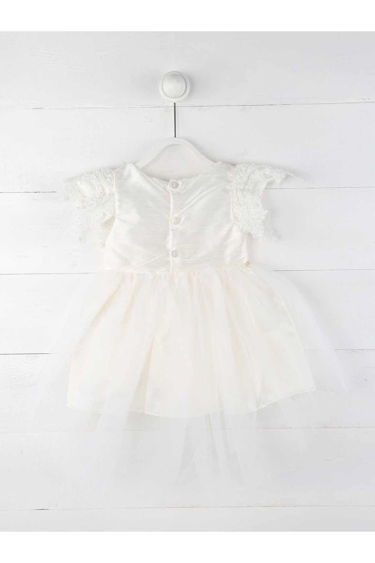 Cream Female Child Evening Dress