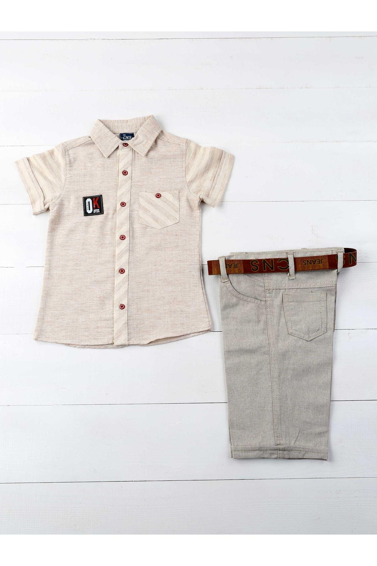 Cream Boy 3-piece Suit