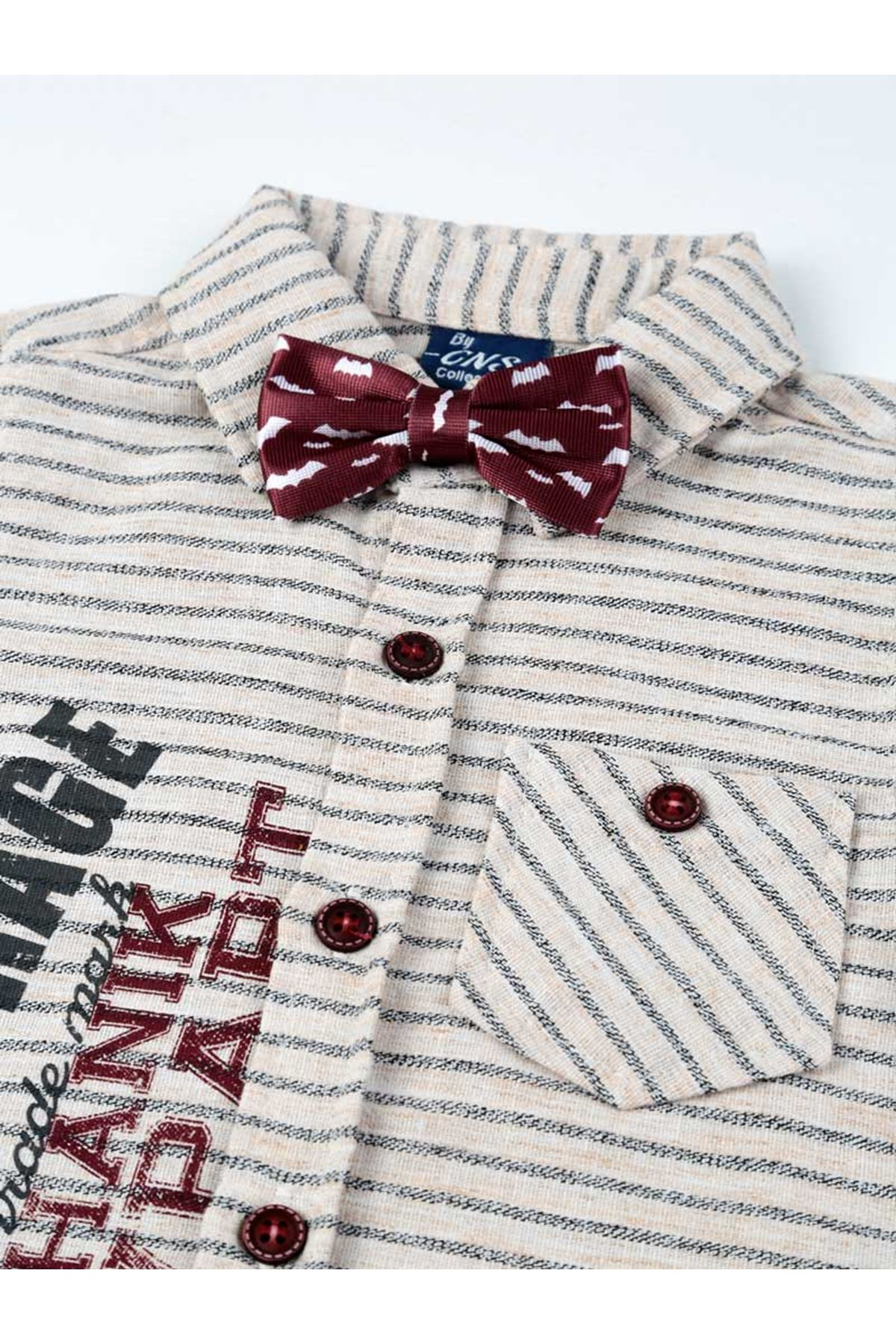 Boys clothing summer shorts belt shirt bow tie sets 4-piece daily holiday special occasions cotton fabric kids outfit