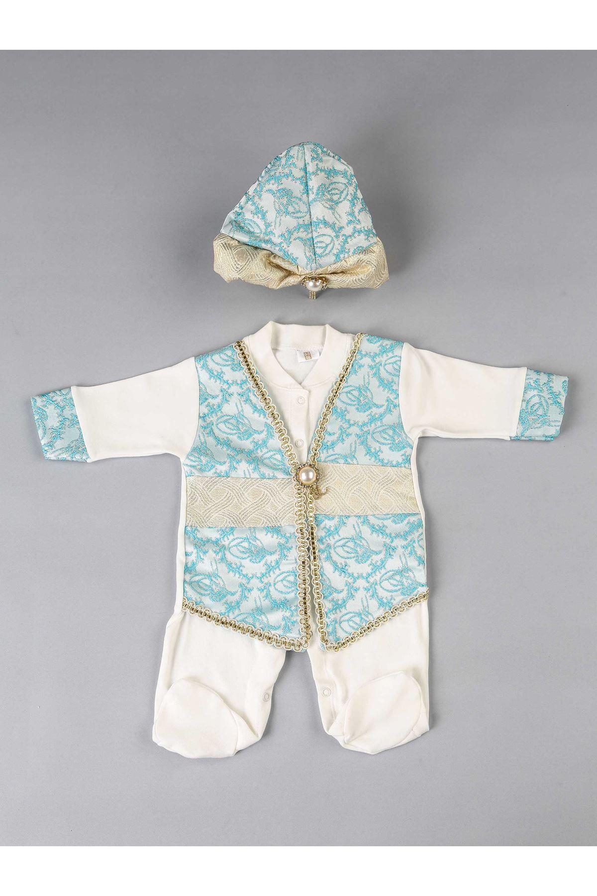 Mavi Erkek Bebek Şehzade Mevlüt Tulumu