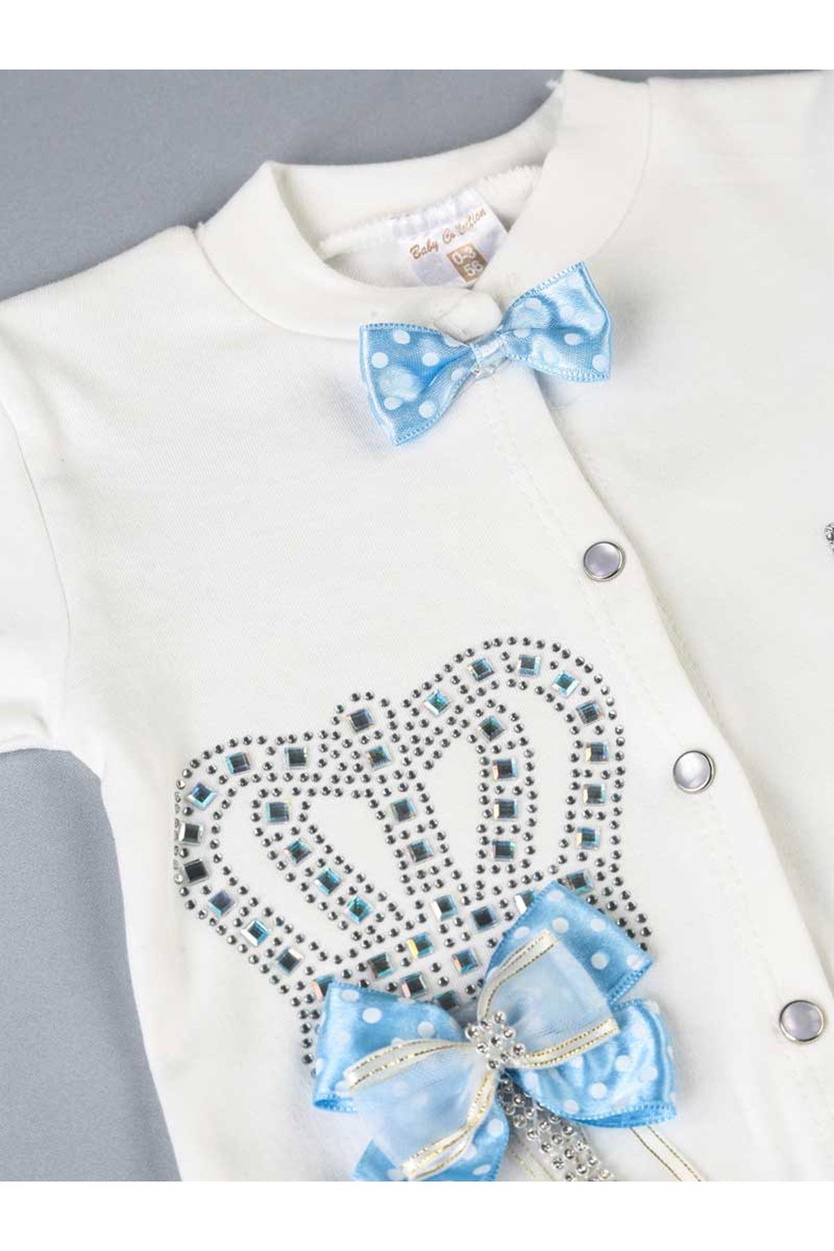 Mavi Prens Erkek Bebek 3 lü Tulum Seti