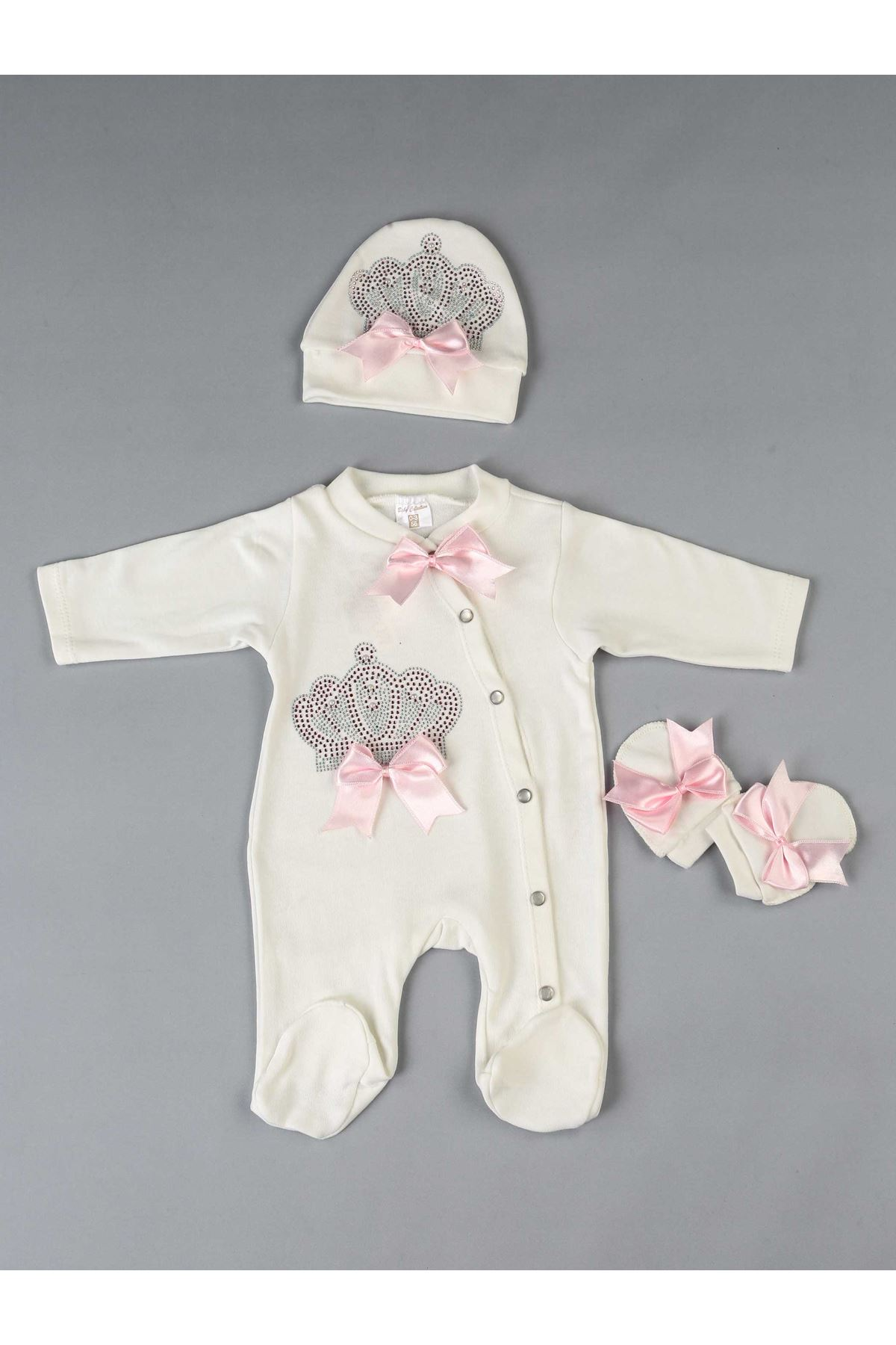 Pink Baby rompers girls boys newborn clothes 3 pcs set cotton soft antiallergic fabric for newborn babies of kinds clothing
