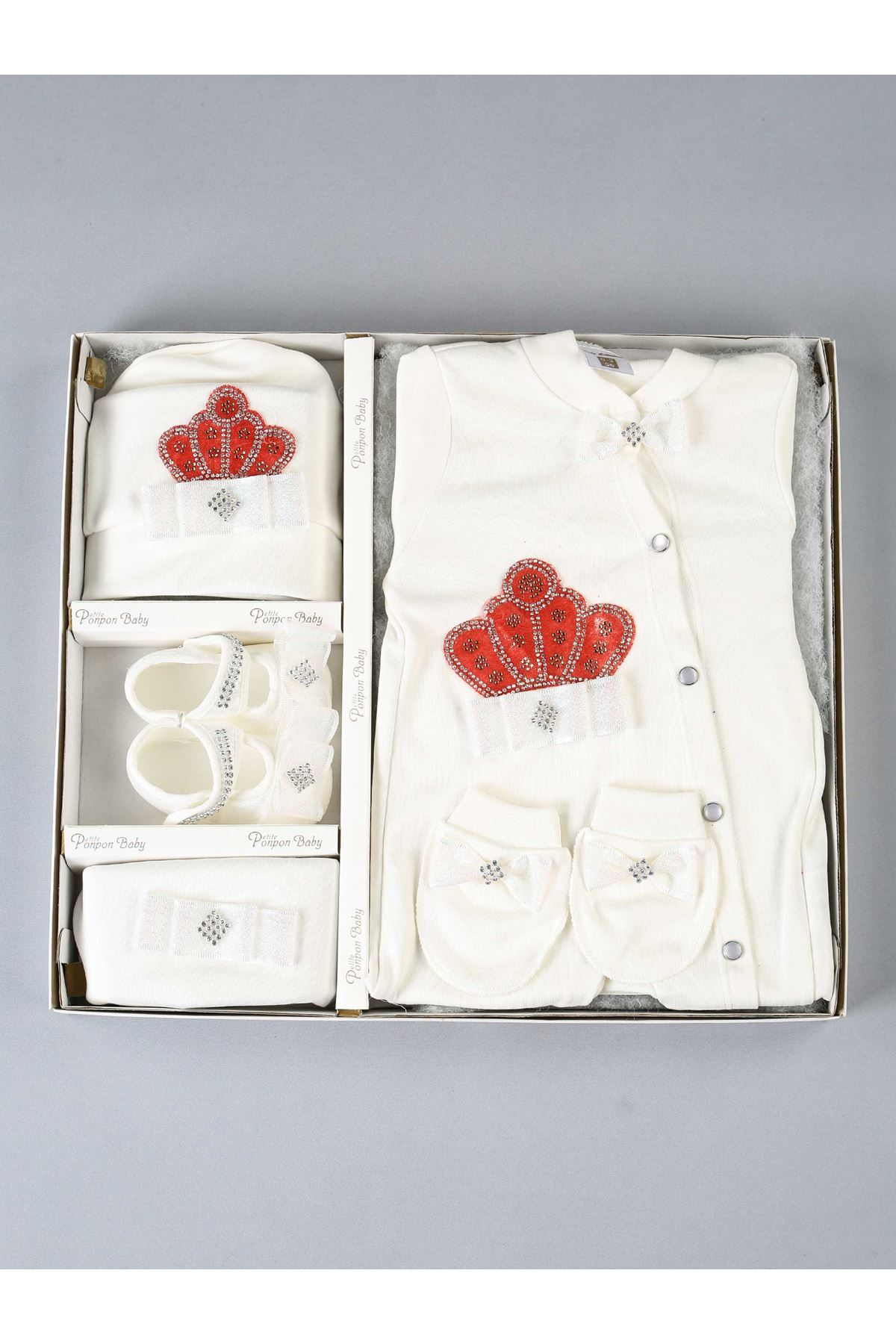 Red Queen Crowned 5 Piece Baby Jumpsuit