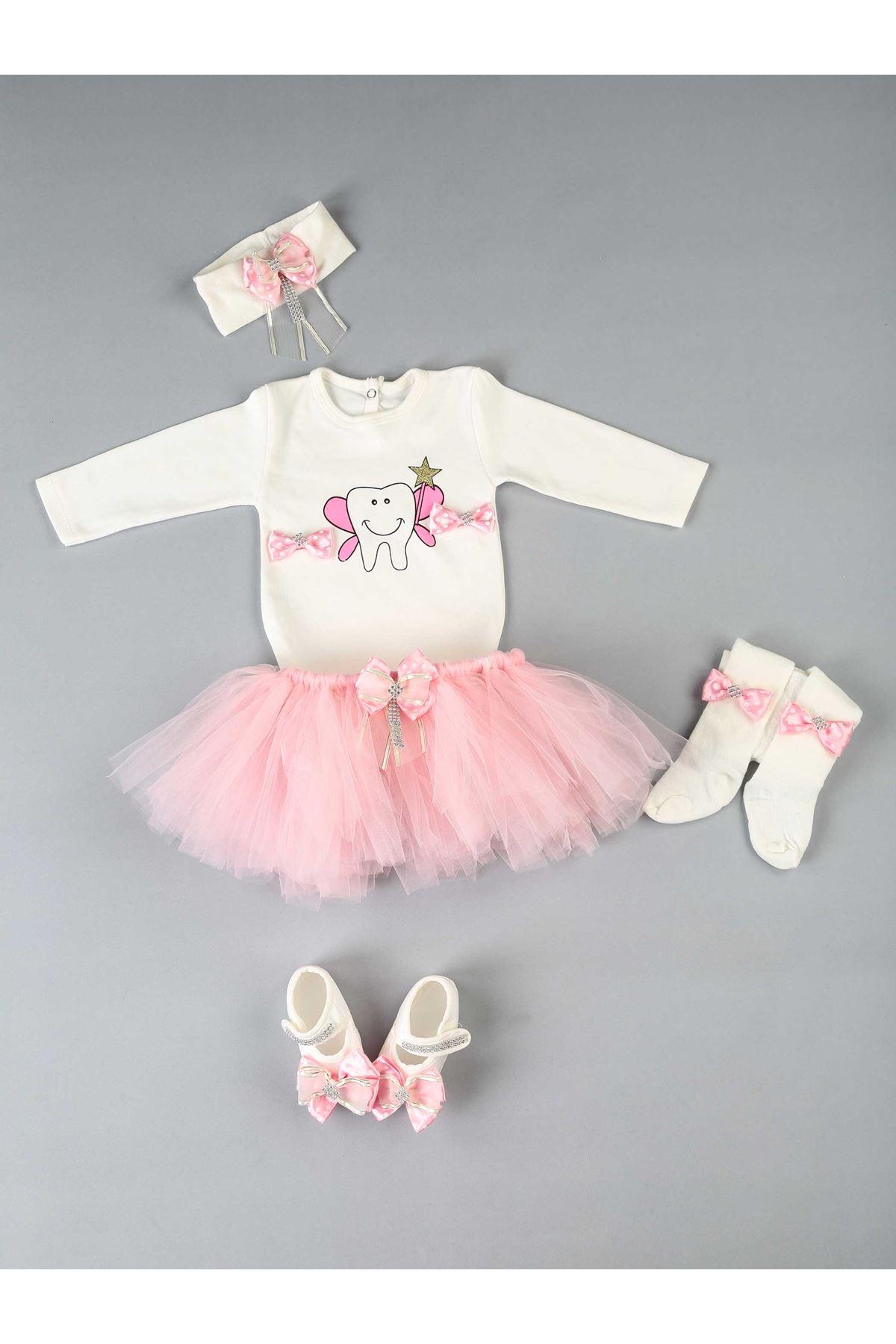 Pink Teeth Output 5 Piece Baby Girl Tutu Sets