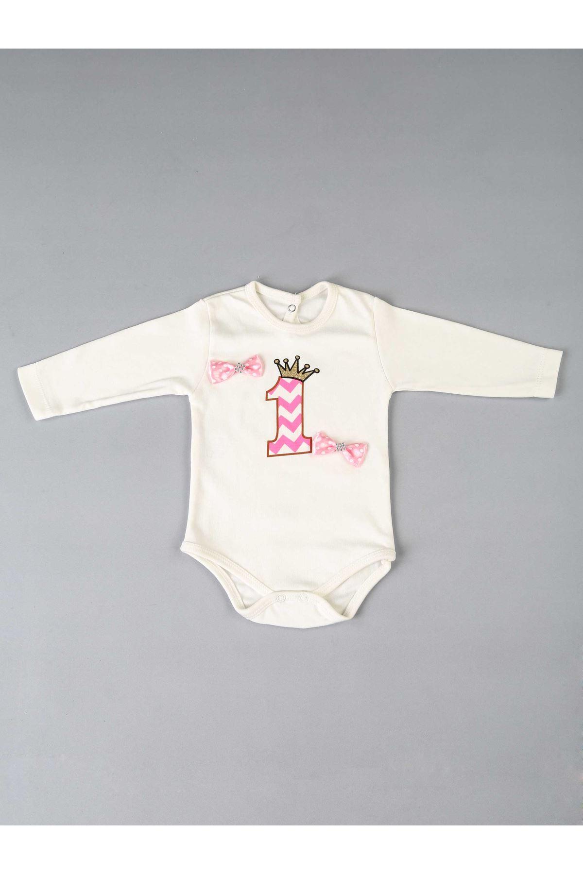 Pembe 1 Yaş Kız Bebek Tütü Takım
