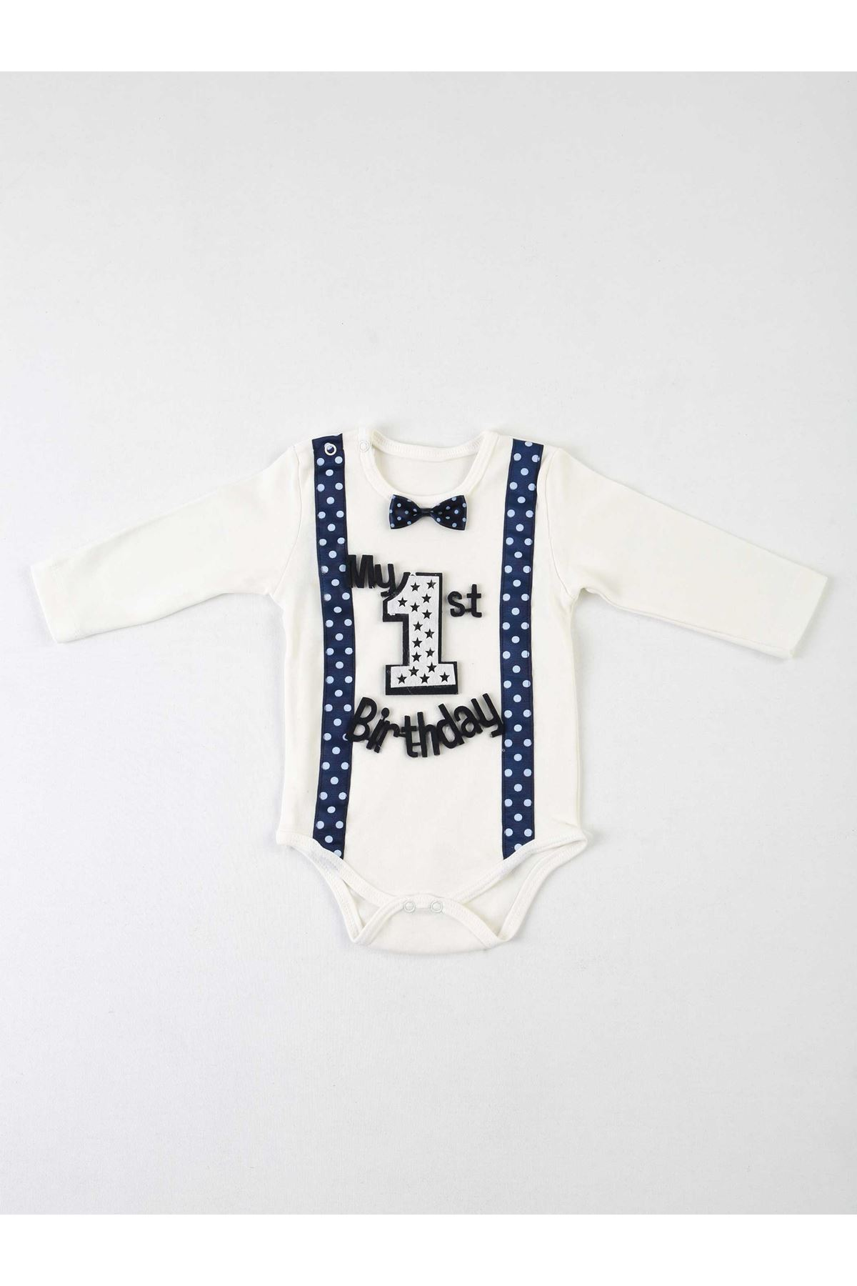 Navy blue 1 Years Old Male Baby 4 Piece Set