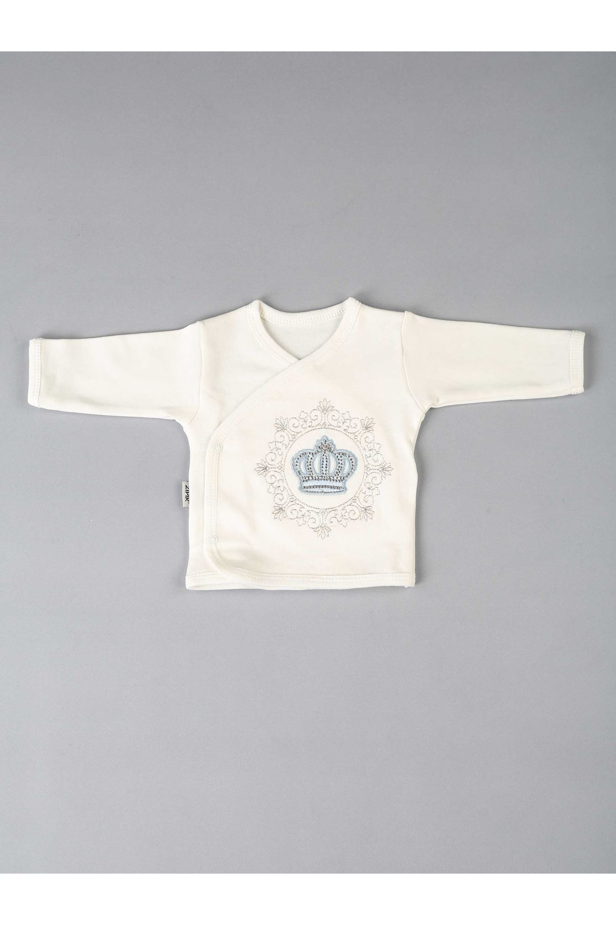 Blue King Crown Baby Boy Newborn Prince Suit 10 Pieces Newborn Babies Boys Clothing Needs Set Cotton Fabric High quality clothes