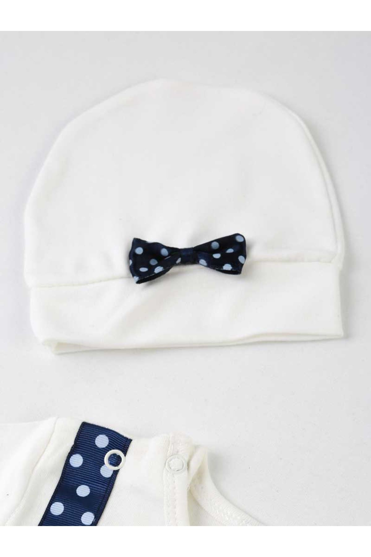 Navy Blue Tooth Output 4 Piece Baby Suit