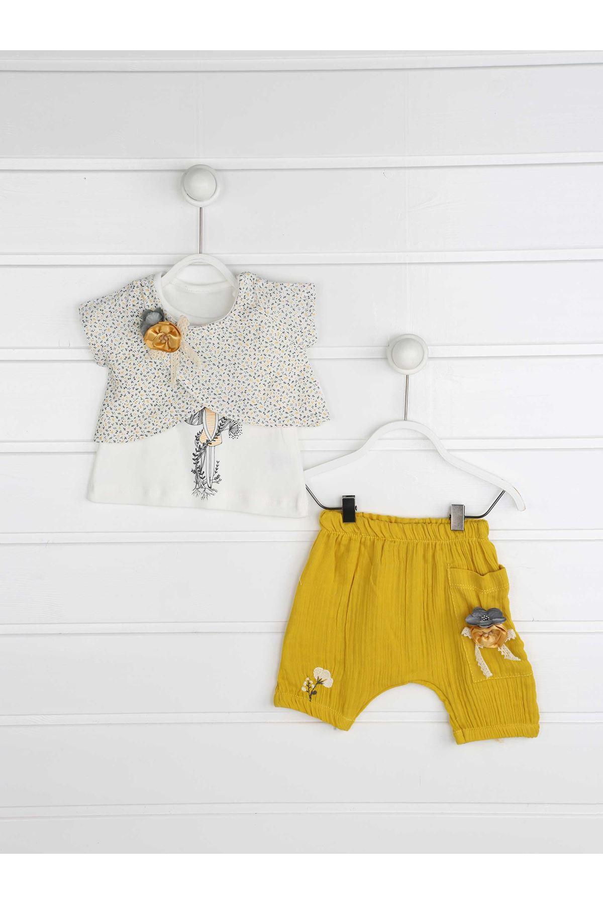 Yellow Summer Baby Girl Suit