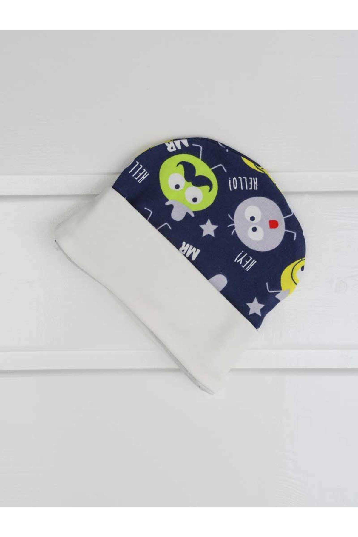 White Male Baby Hat Jumpsuit