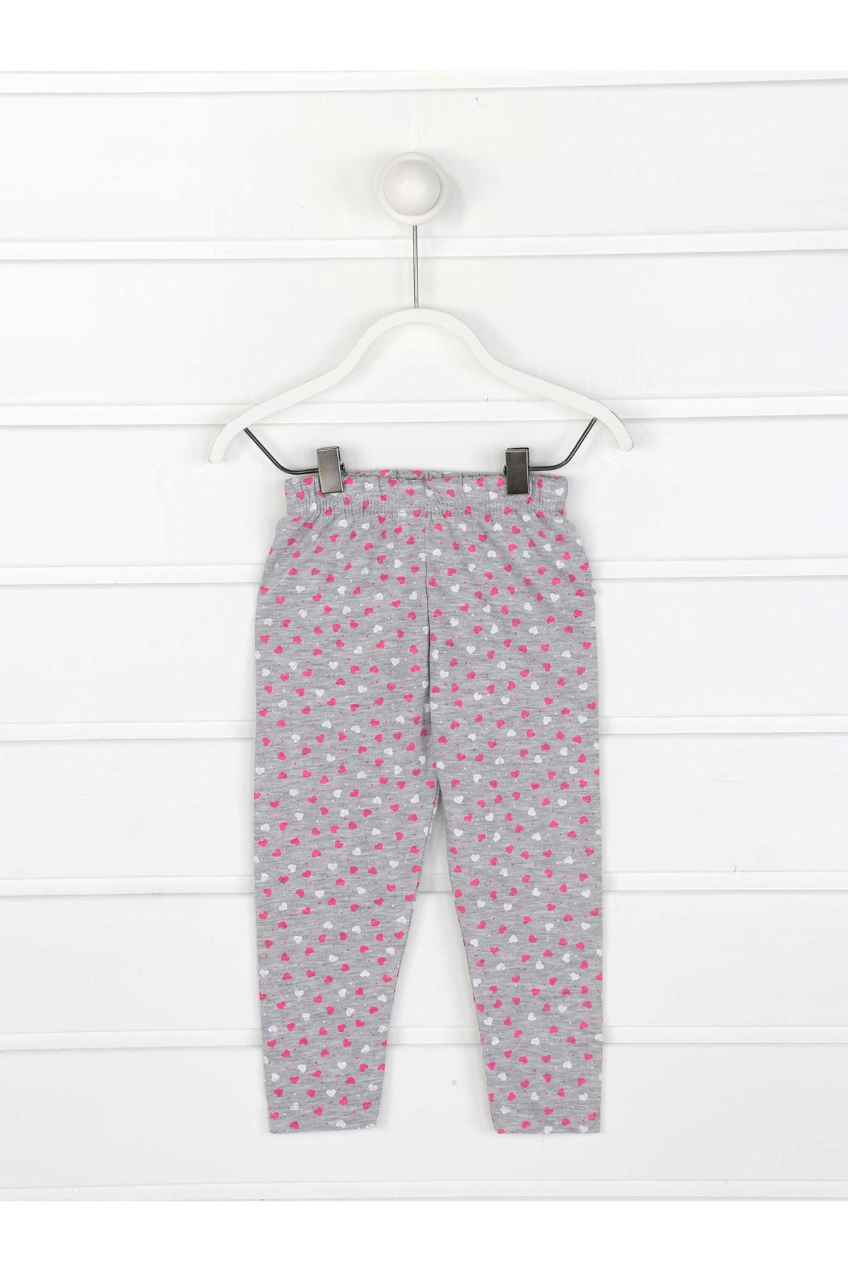 Gray Female Child Pattern Leggings