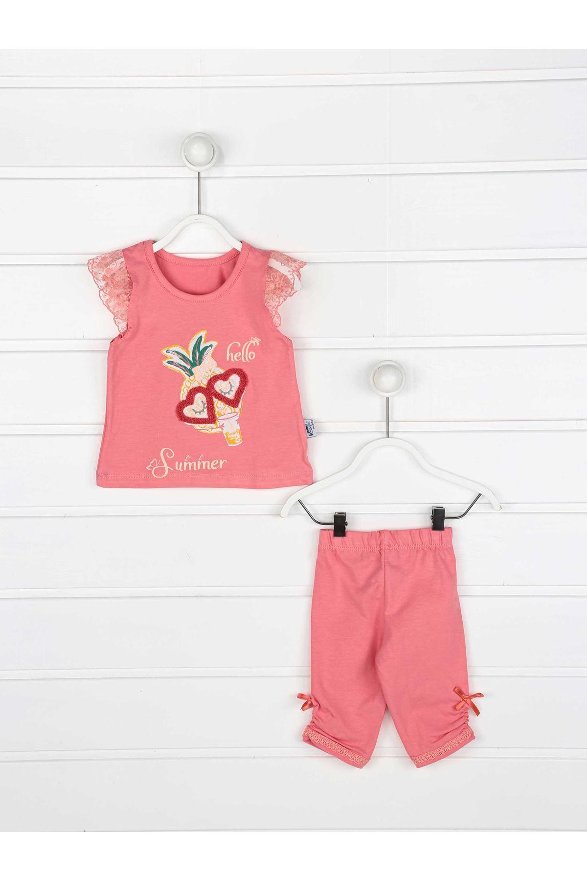 Narçiçeği Yazlık Kız Bebek Taytlı Takım