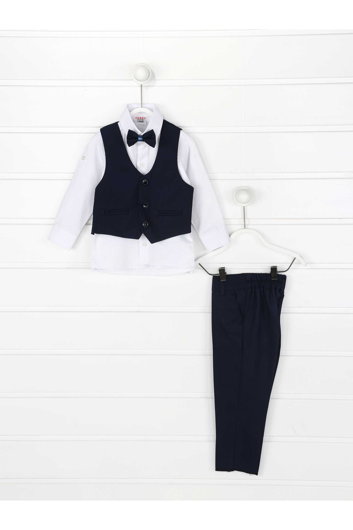 Navy blue Vest Papyonlu Male Child Suit
