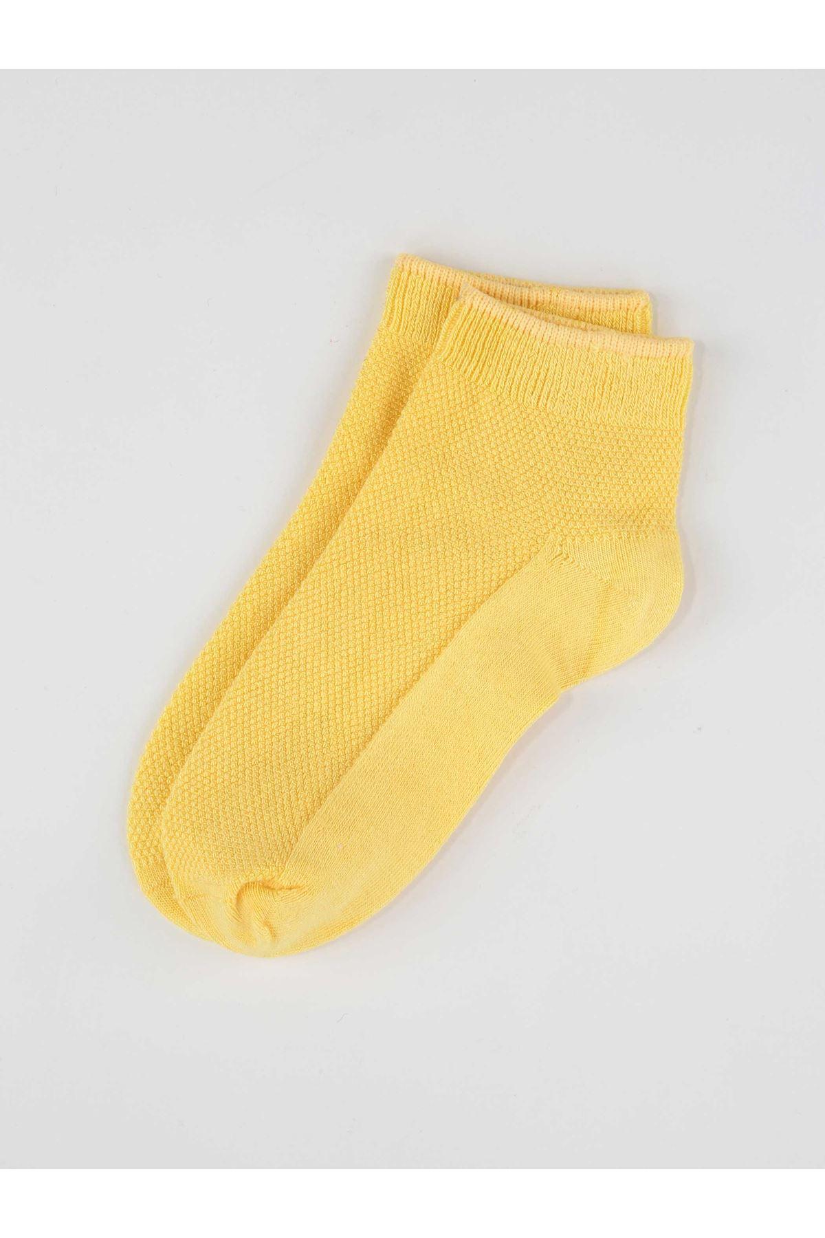 Yellow Bamboo Girl Booties Socks