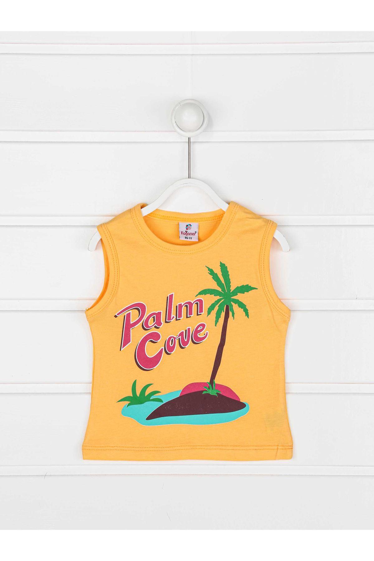 Orange Summer Male Child 2 Piece Suit