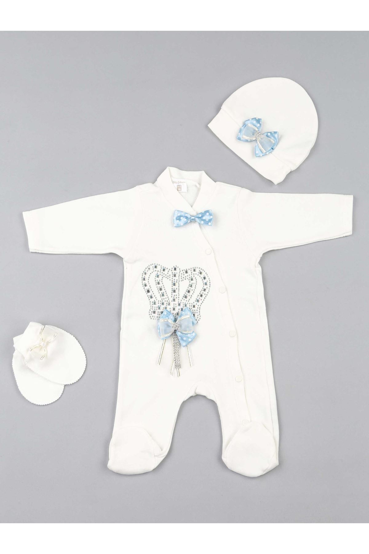 Blue Baby rompers Boys Newborn Clothes 3 pieces set cotton soft antiallergic fabric of kinds clothing models for babies