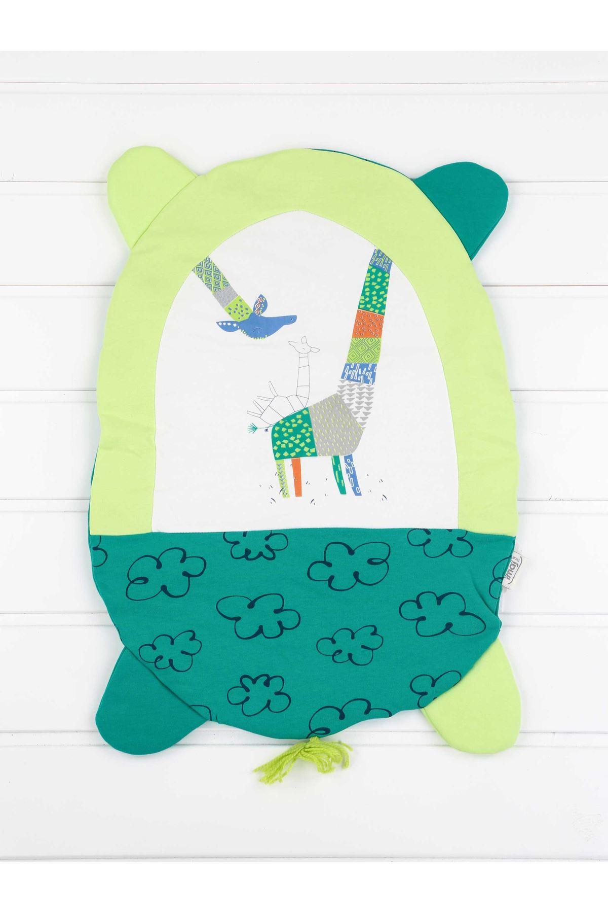 Green Baby Boy Bottom Opening Cushion