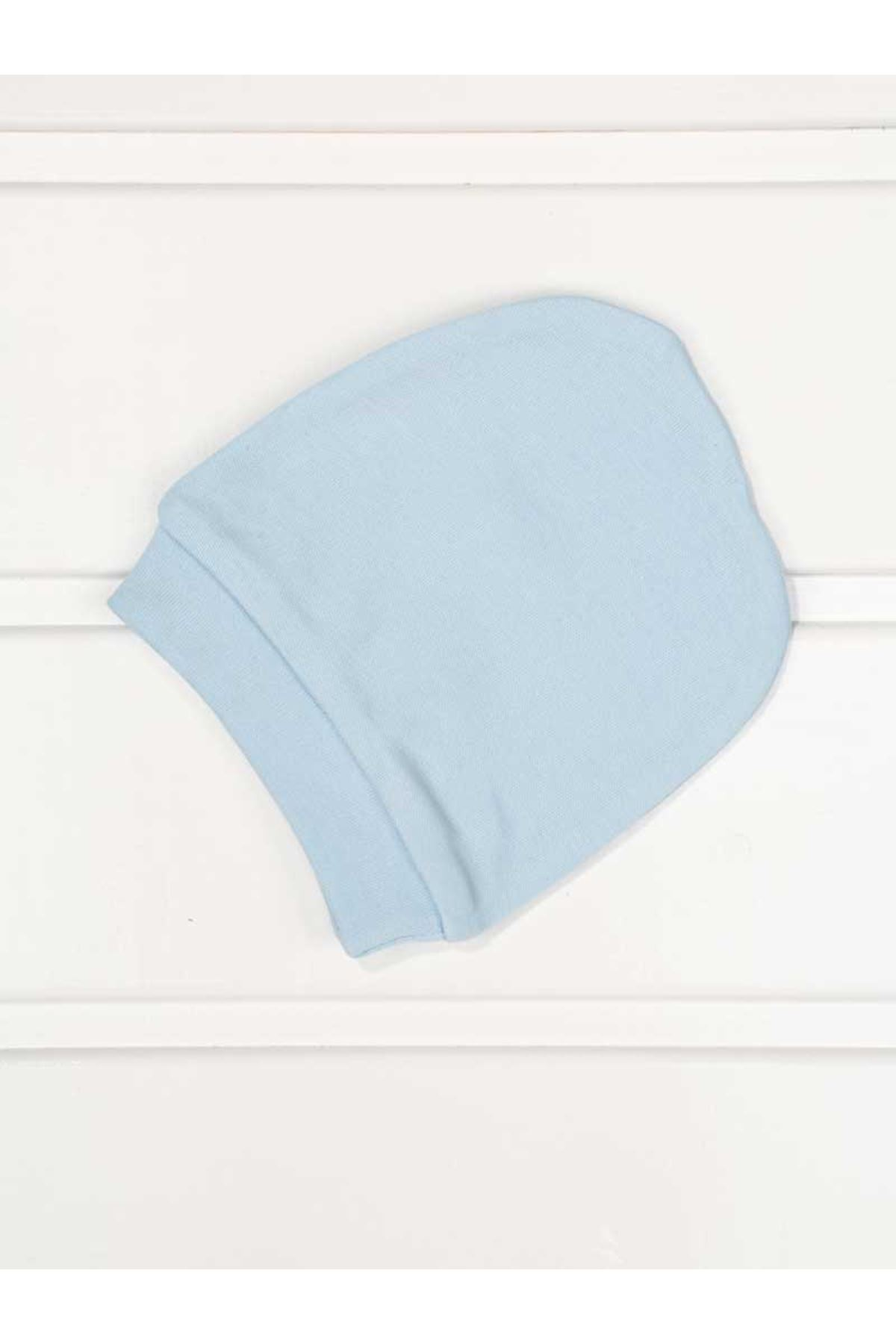 Blue baby boy solid color 3-piece suit overalls gloves hat infants cotton comfortable babies daily newborn hospital outlet model