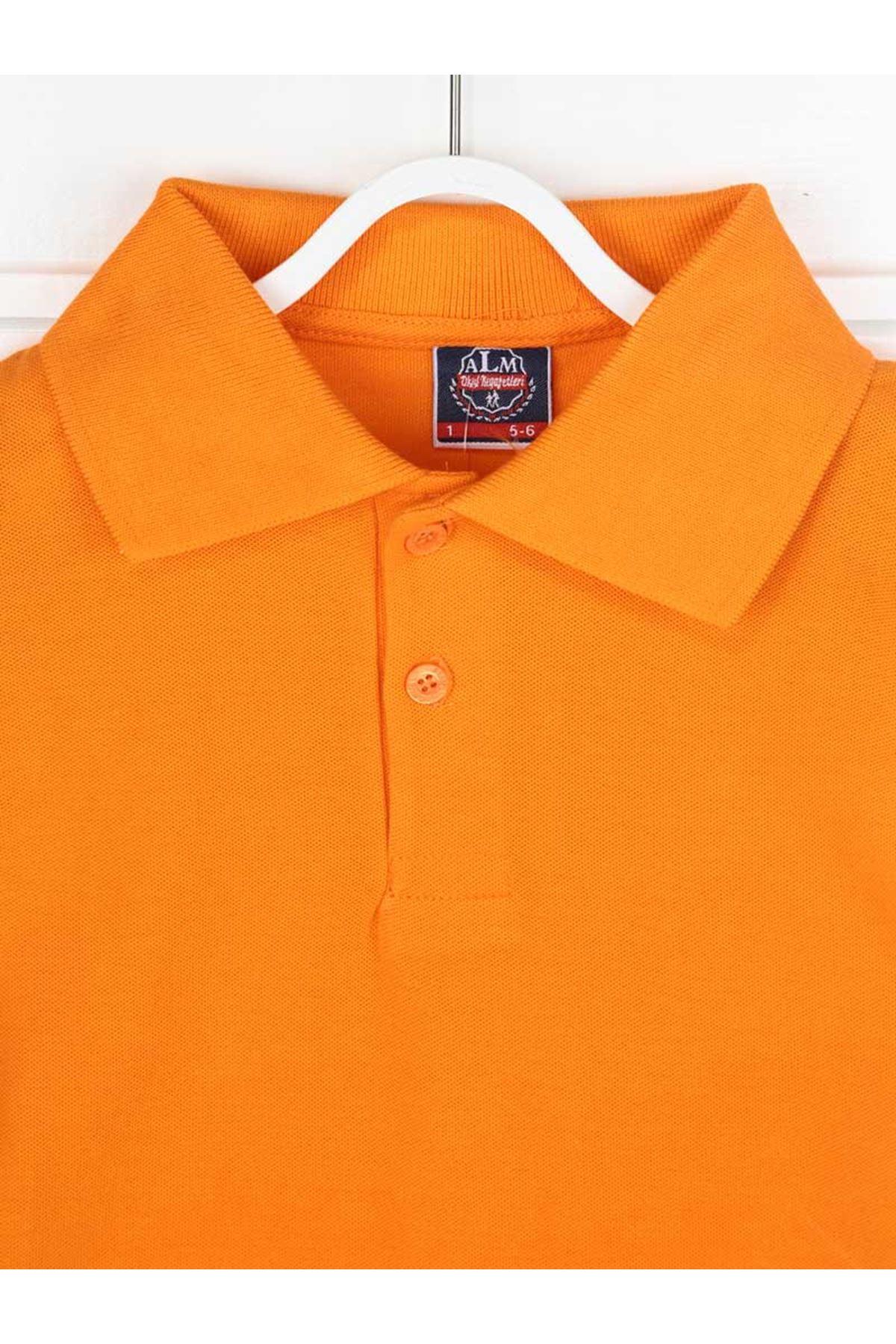 Oranj Polo Yaka Pamuklu Çocuk Basic Tişört