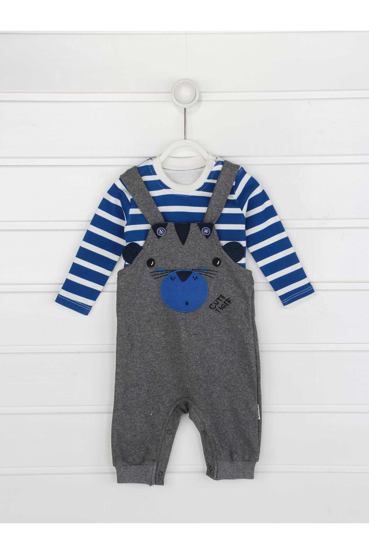 Gray baby boy rompers seasonal salopet style figured daily sweet babies boy models