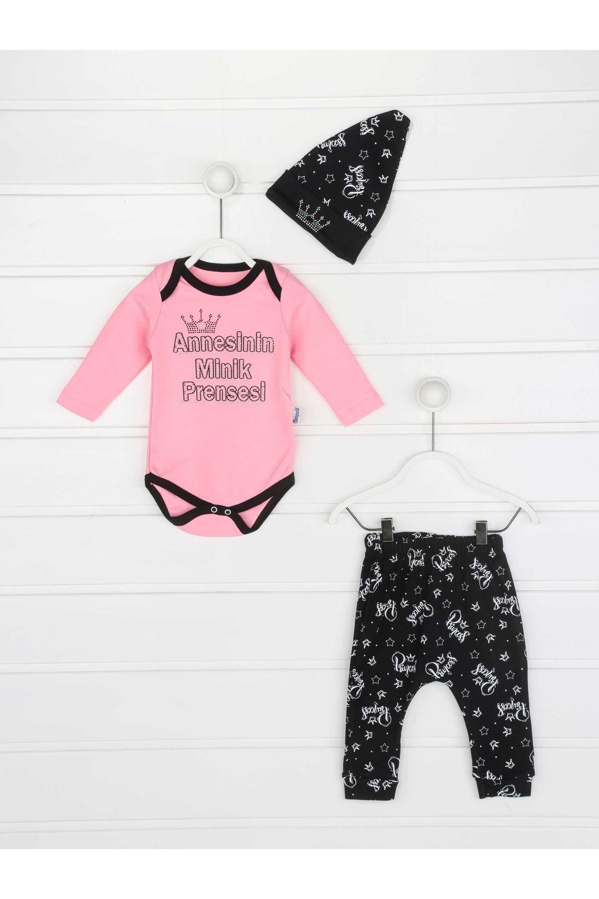 Pink Mother Tiny Princess Baby Girl 3 Pcs Set
