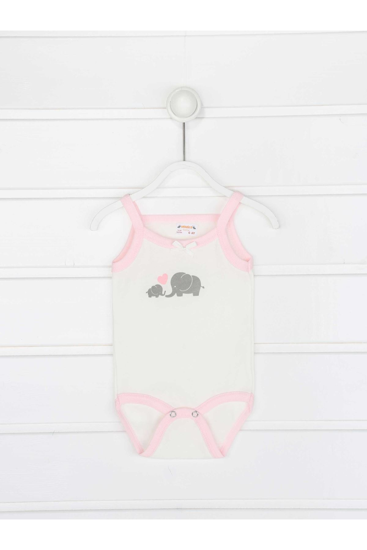 Pink Rope Strap Baby Girl Suit