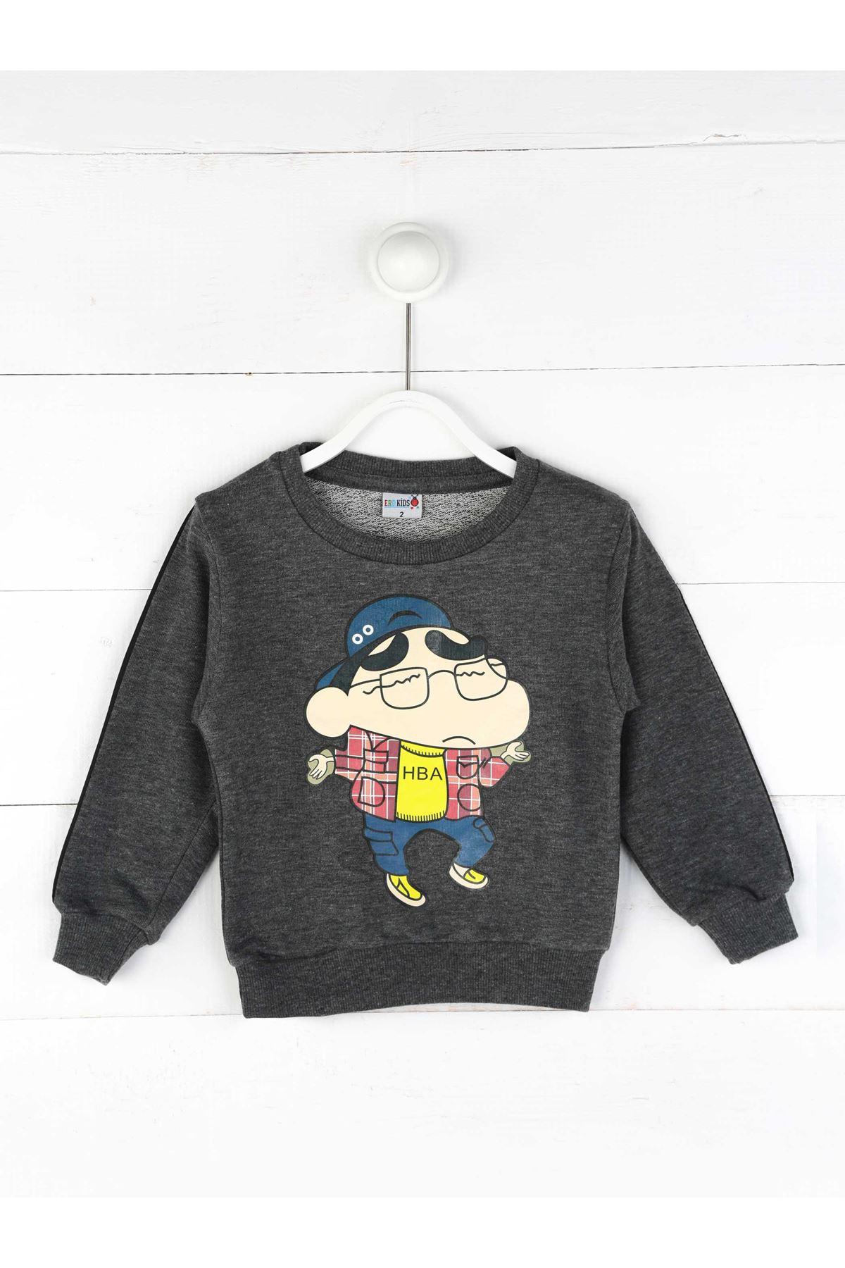Füme Mevsimlik Erkek Çocuk Sweatshirt