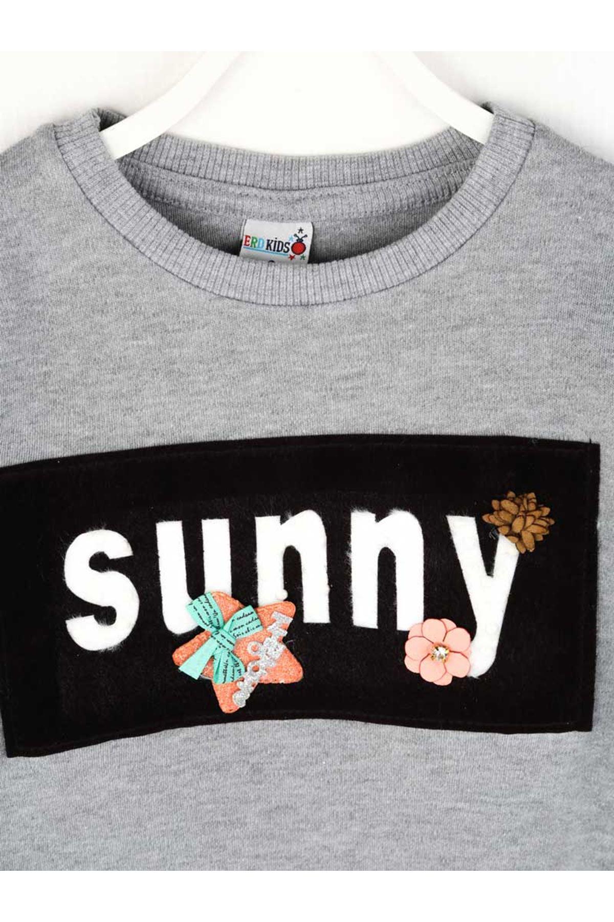 Gray Seasonal Girl Sweatshirt