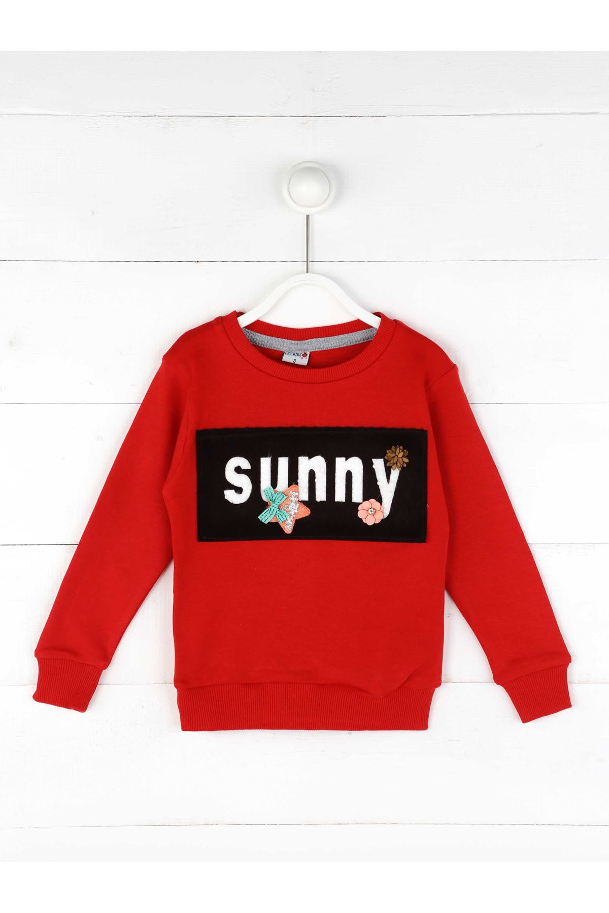 Kırmızı Mevsimlik Kız Çocuk Sweatshirt