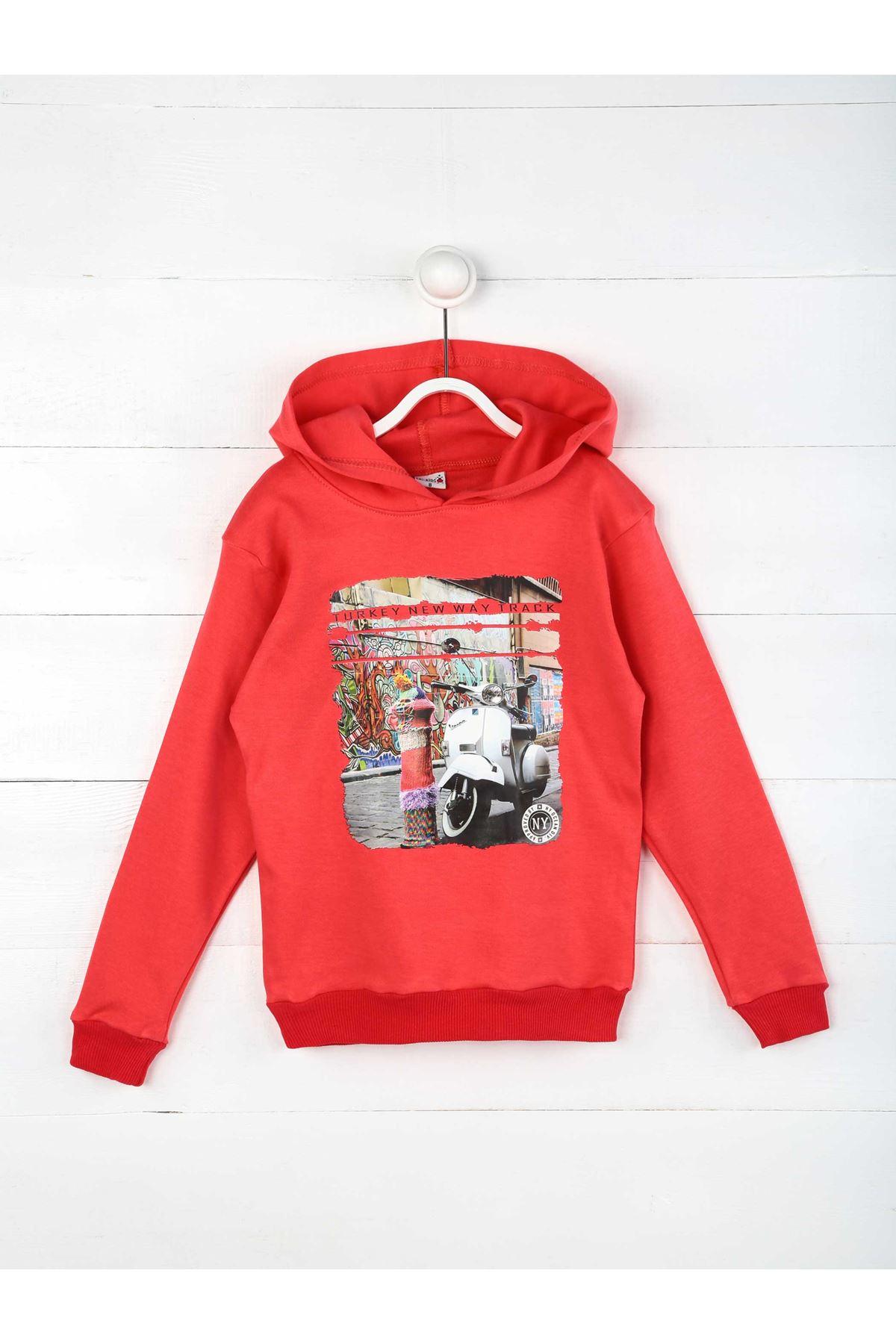 Pomegranate Flower Seasonal Hooded Girl's Sweatshirt