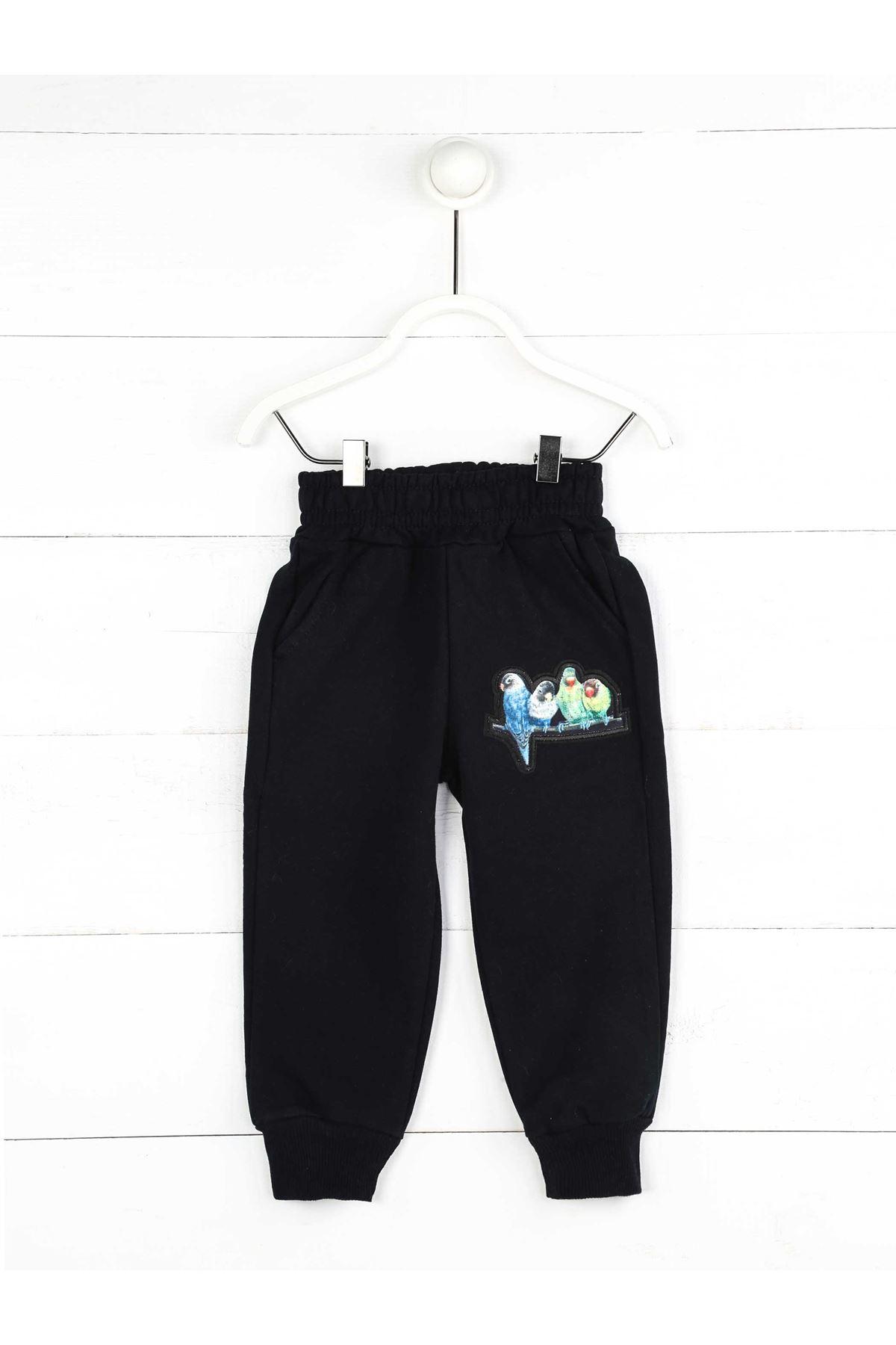 Dark Blue Seasonal Girl's Trousers