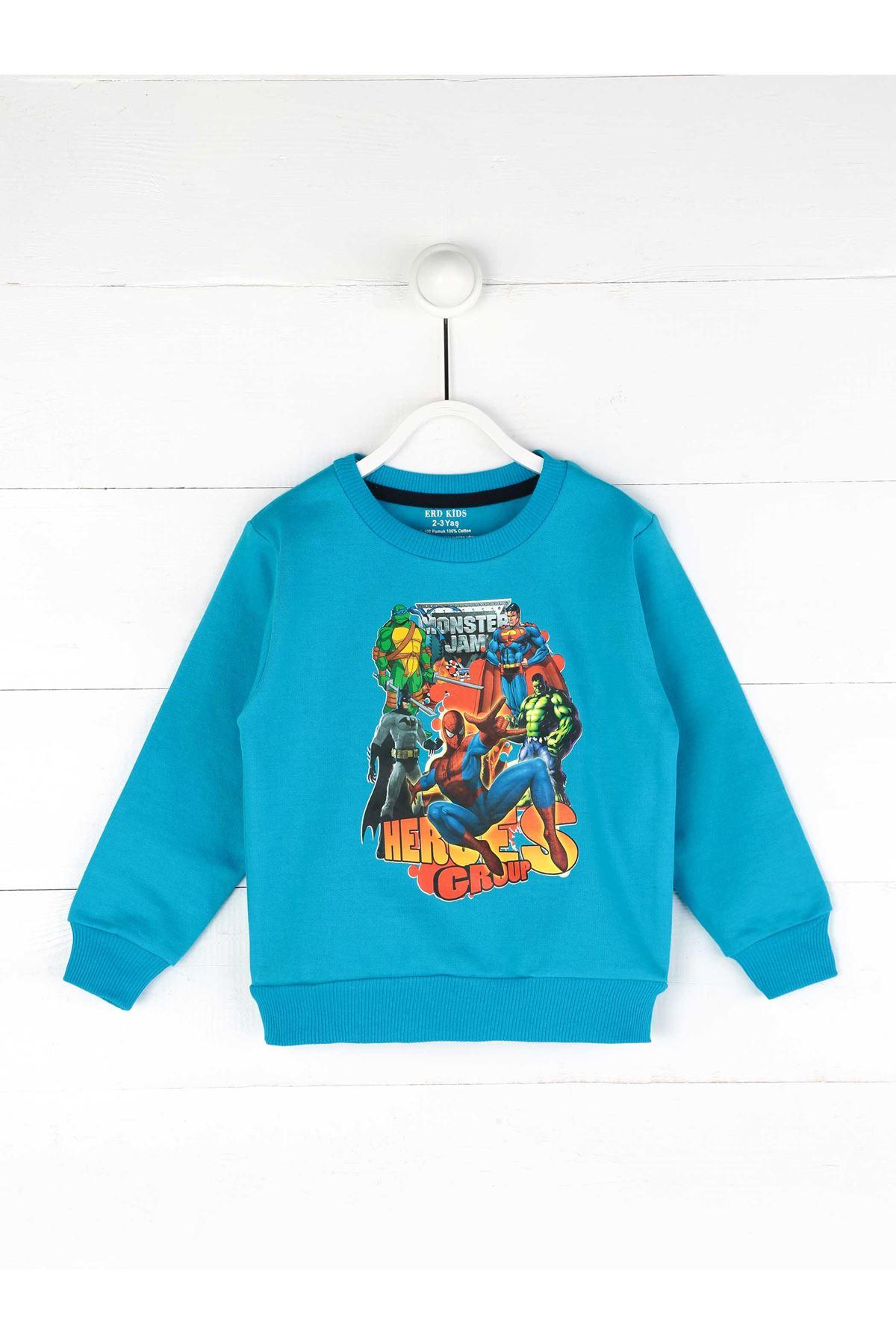 Turquoise Seasonal Boy Sweatshirt