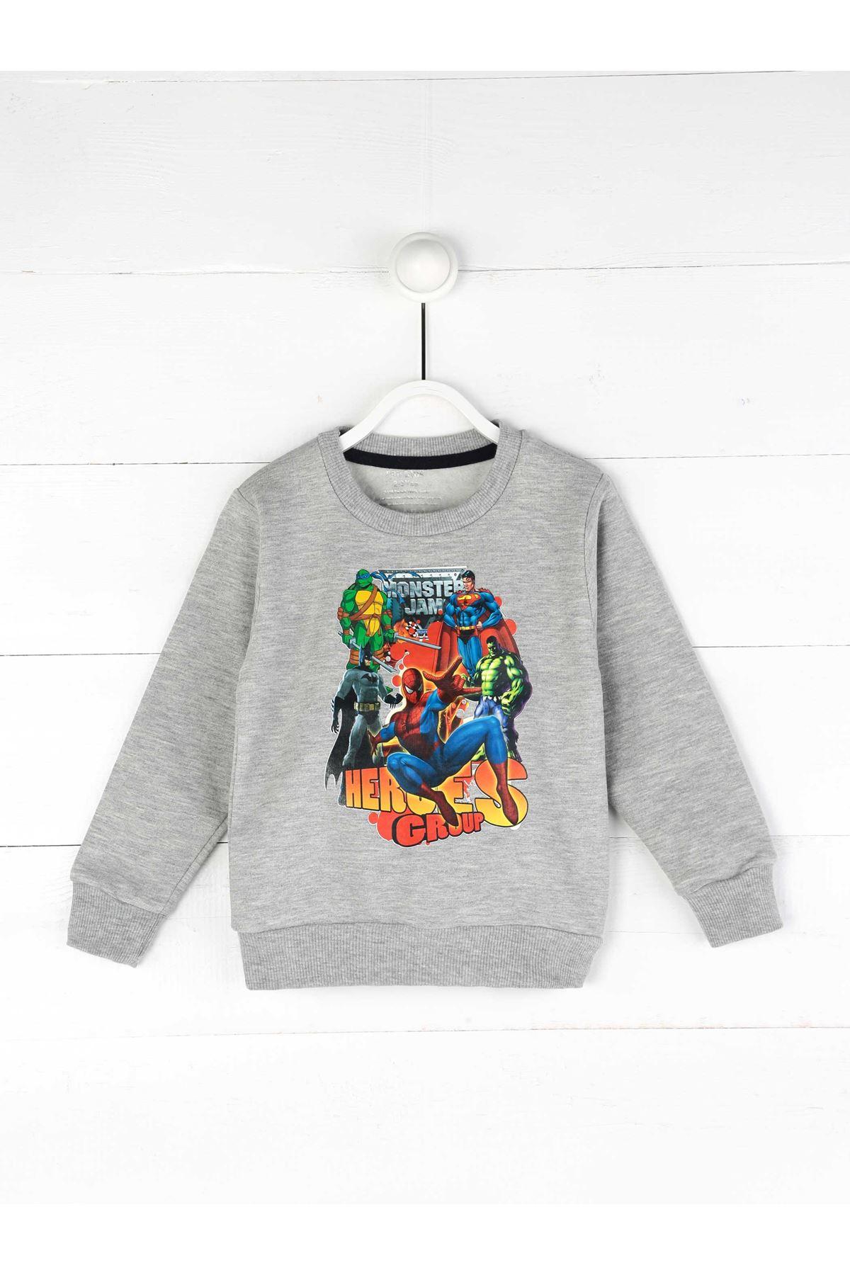 Gray Seasonal Boy Sweatshirt