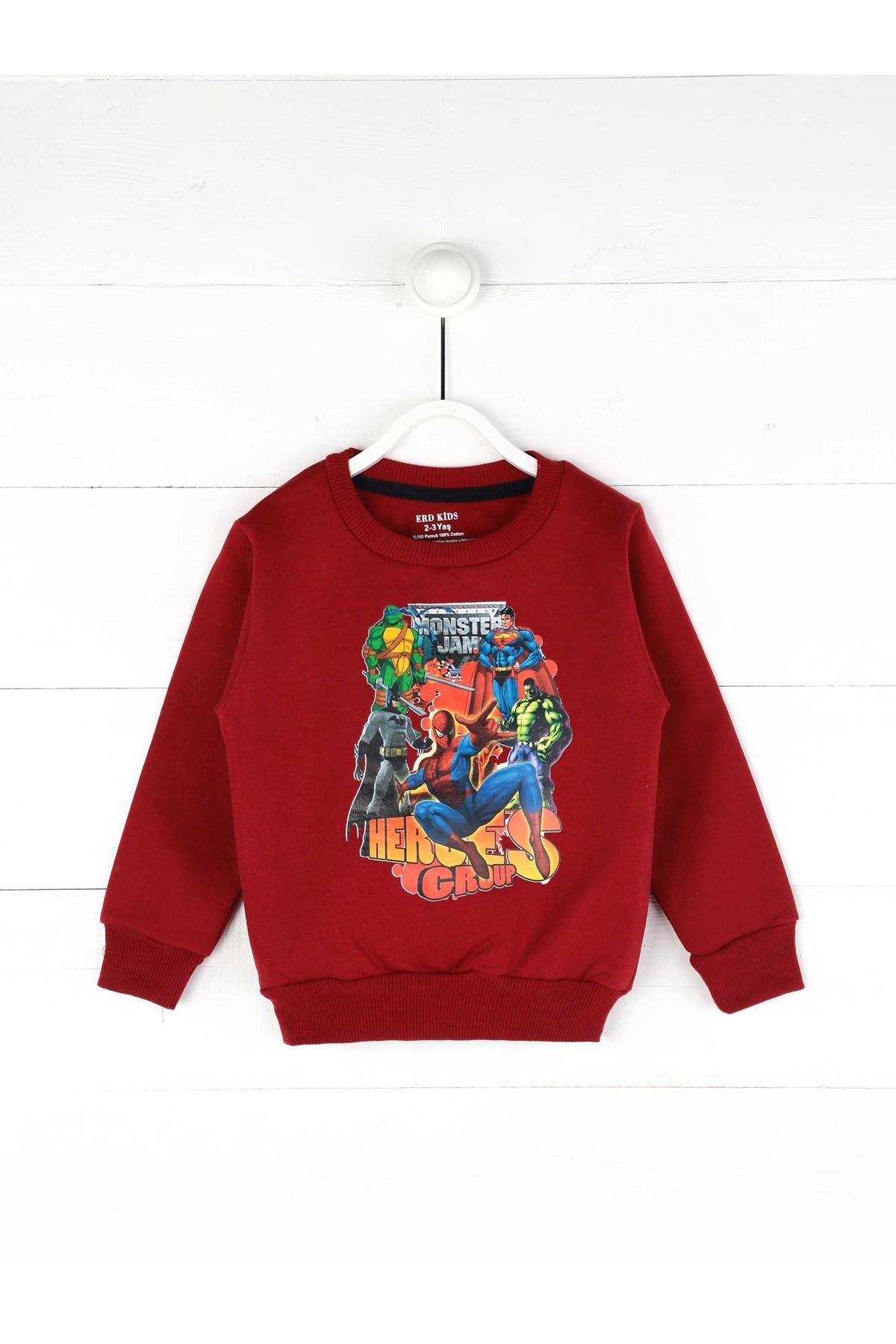 Maroon Seasonal Boy Sweatshirt