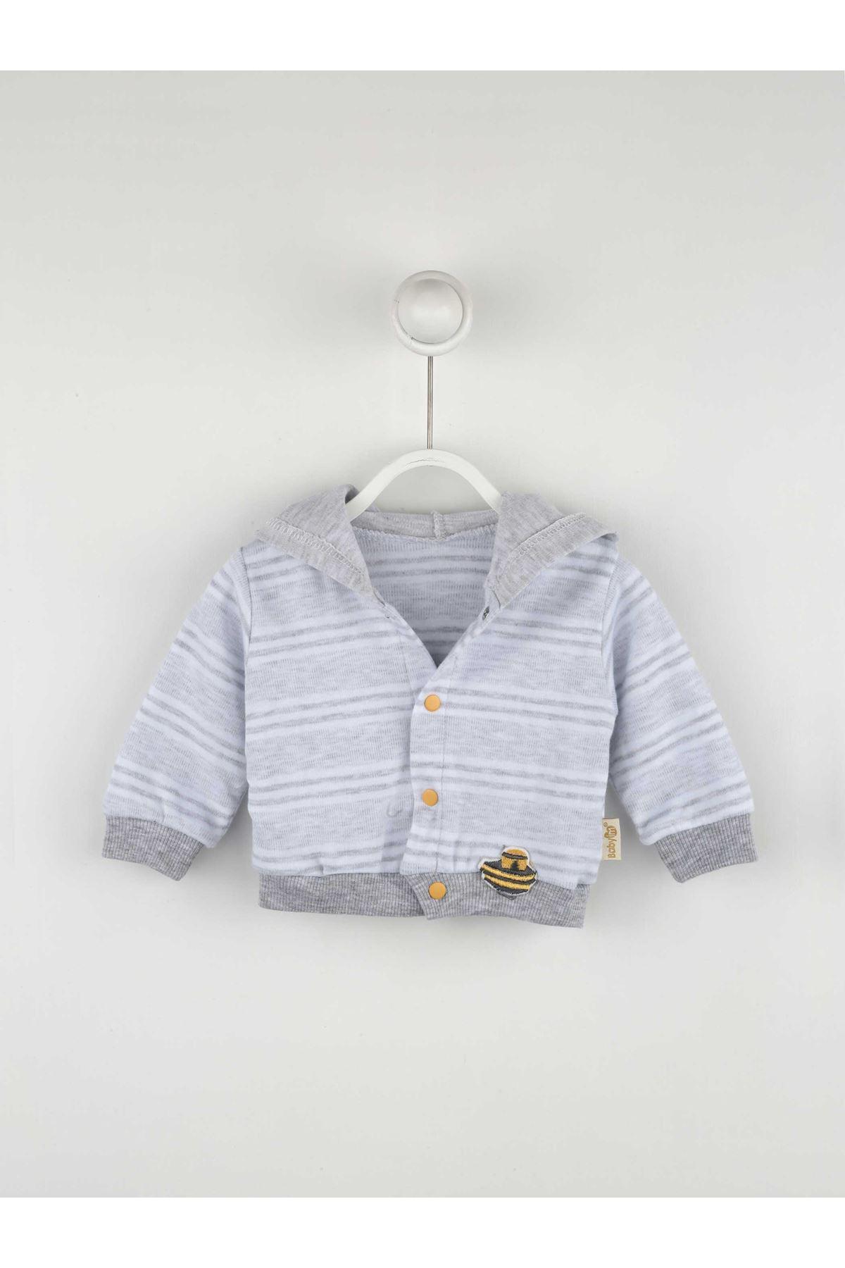 Gray Male Baby 3 Pcs Set