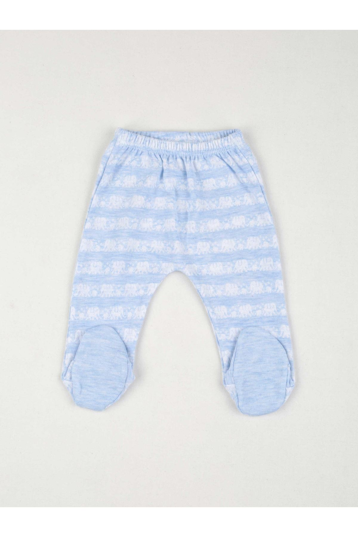 Blue Newborn baby boy 5 piece suit set cotton hospital out daily casual baby clothes style fashion models