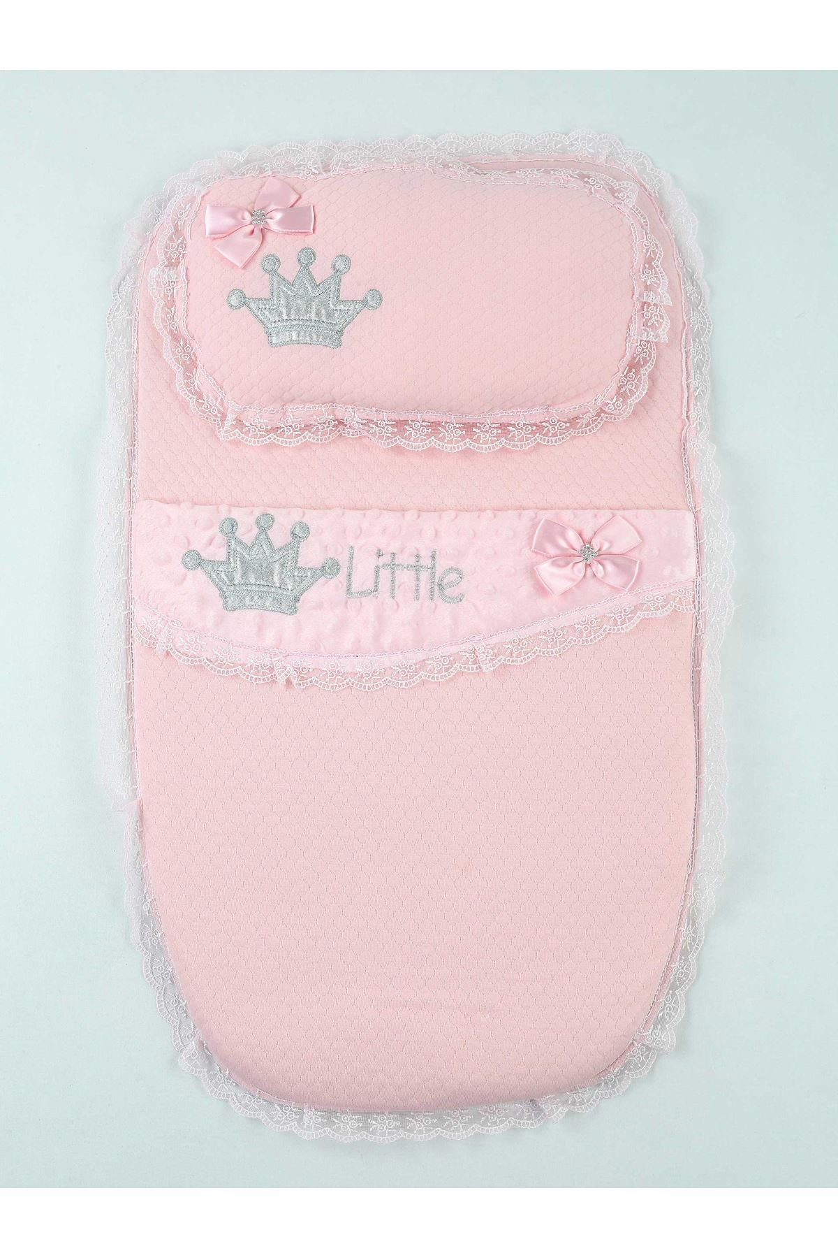 Pink baby girl swaddle queen model pillow bottom open infants stroller use cotton models