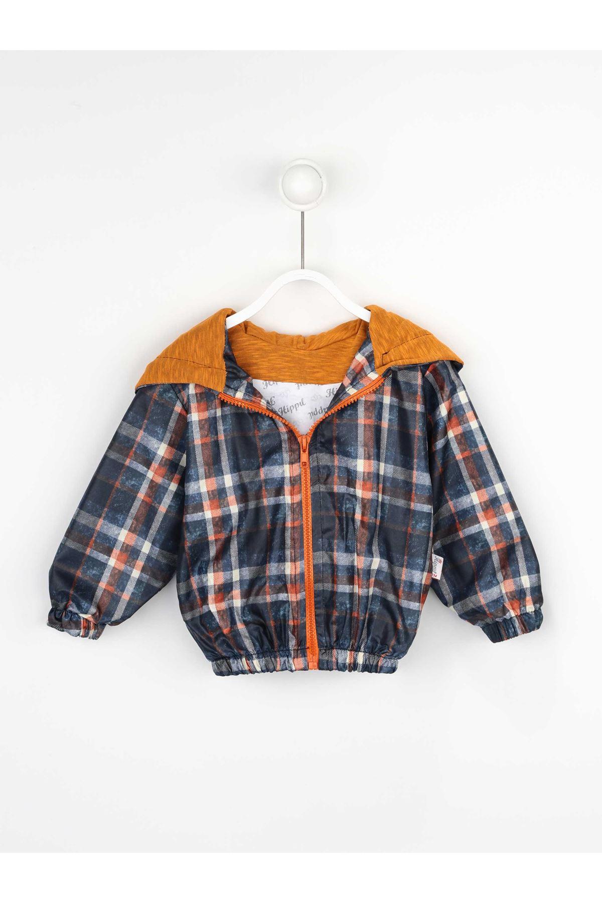 Orange Boys Children's Hooded Raincoat coats Seasonal Thin Waterproof Men Jacket Winter Rain Kids coats