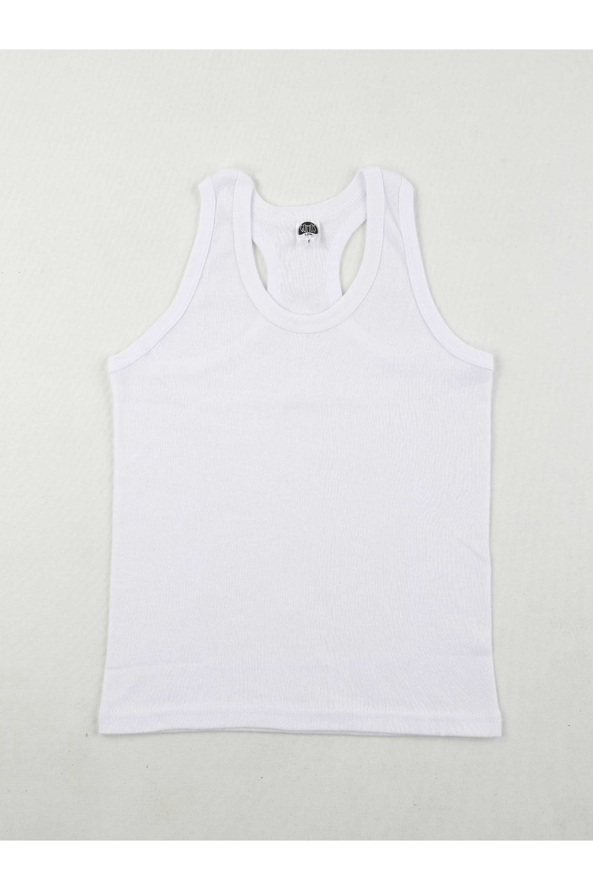 Gümüş İç Giyim Erkek Çocuk Beyaz Sporcu Atlet