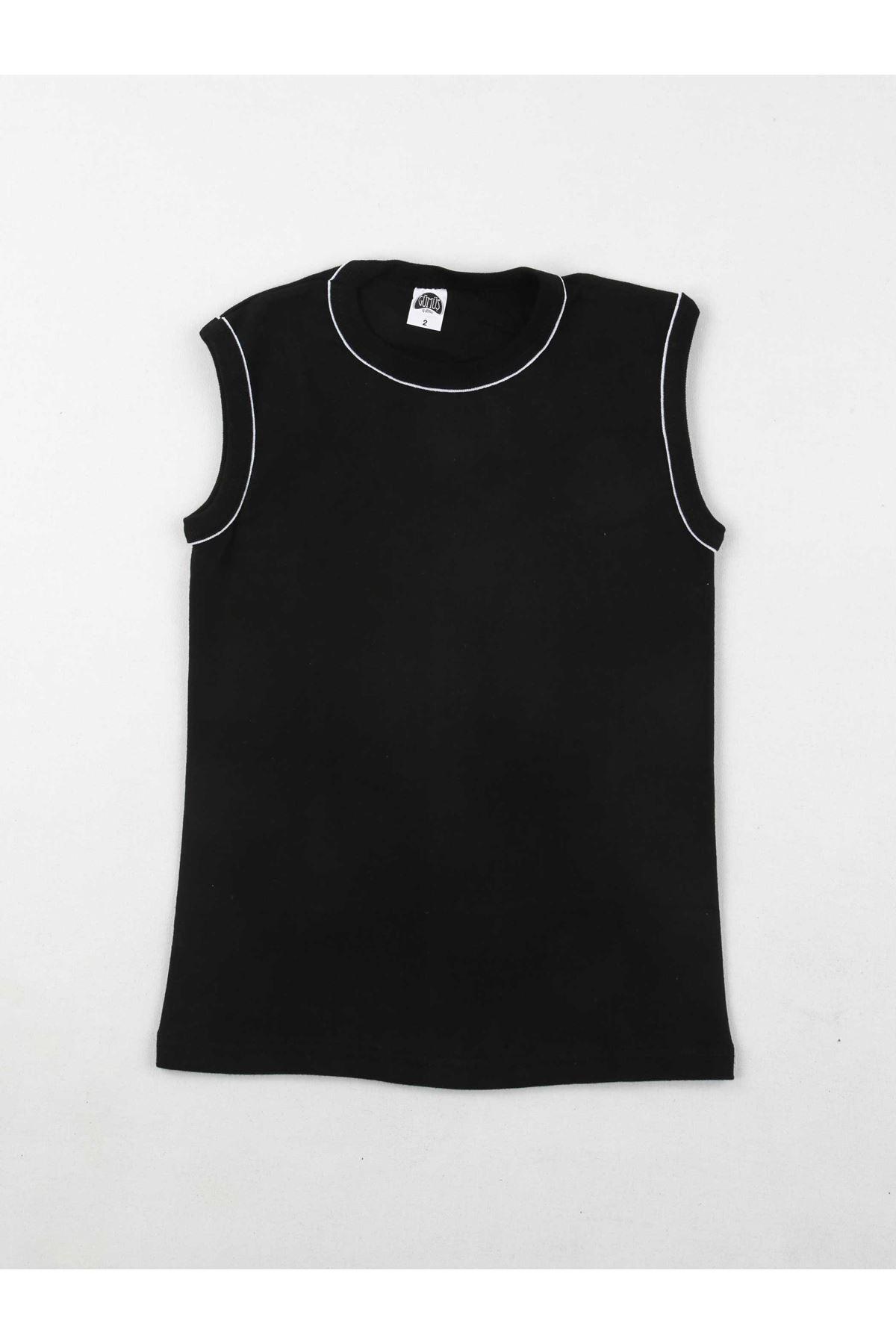Gümüş İç Giyim Erkek Çocuk Siyah  Spor Fanila