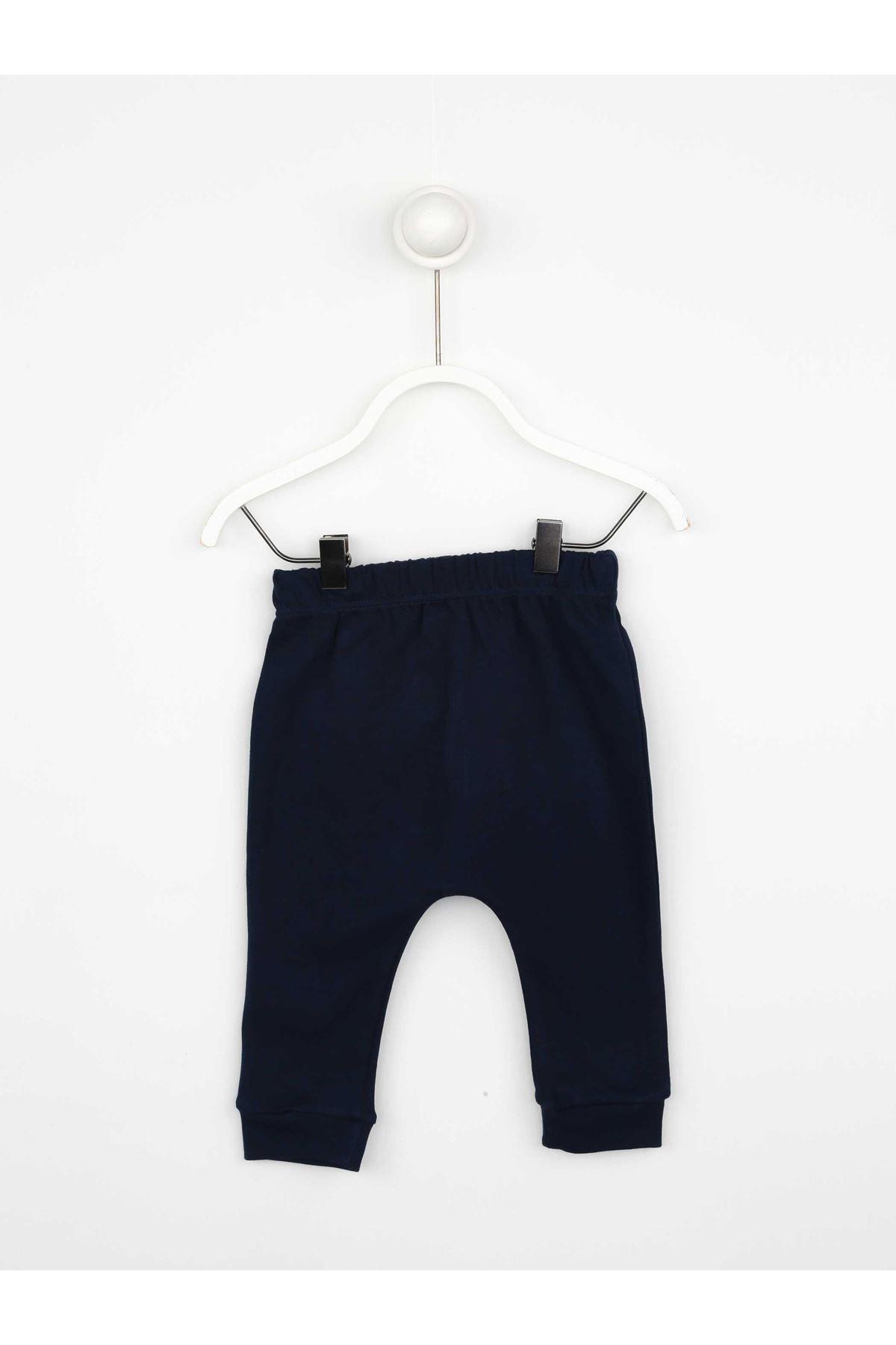 Navy blue Male Baby 3 Pcs Set