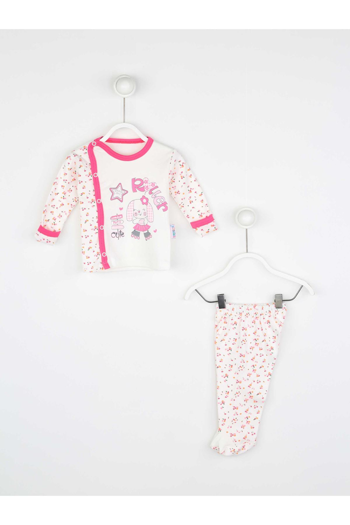 Fuchsia Baby Girl Daily 2 Piece Suit Set Cotton Daily Seasonal Casual Wear Girls Babies Suit Outfit Models
