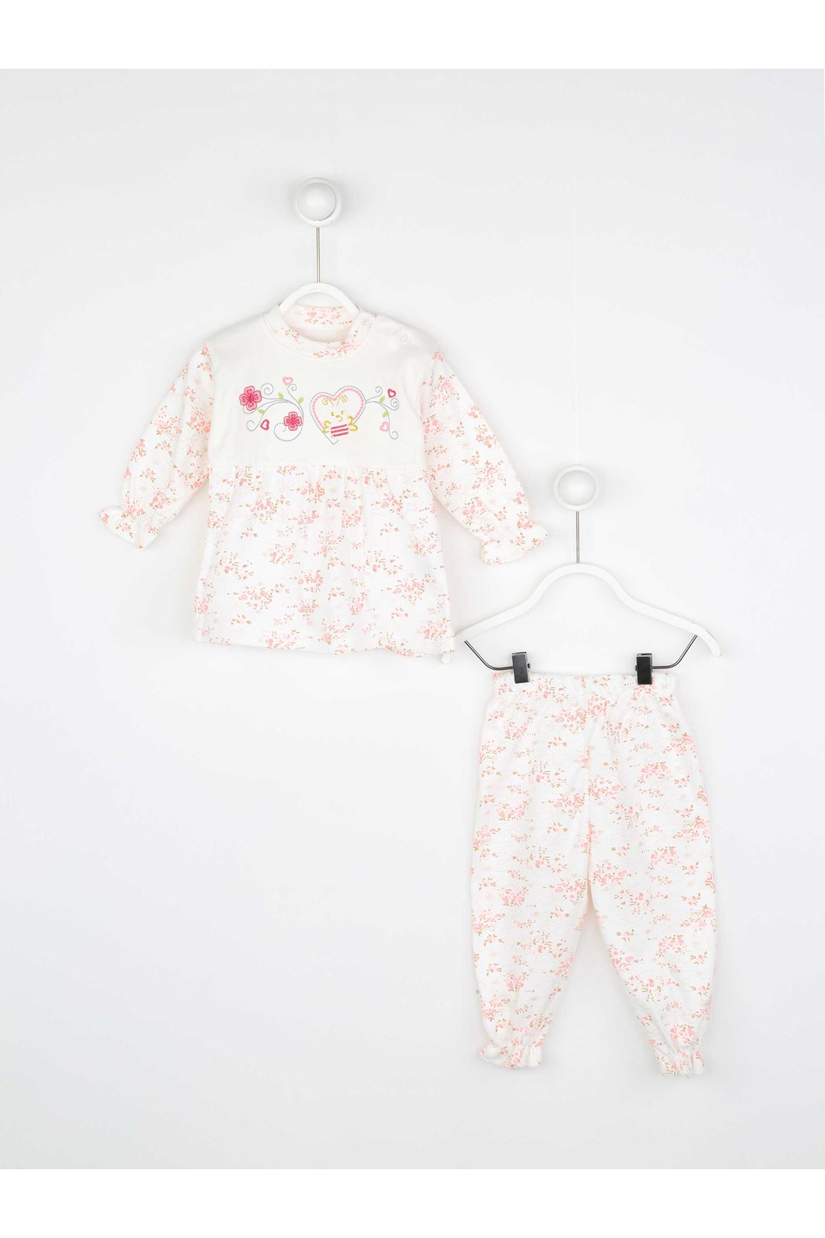 Pink Baby Girl Daily 2 Piece Suit Set Cotton Daily Seasonal Casual Wear Girls Babies Suit Outfit Models