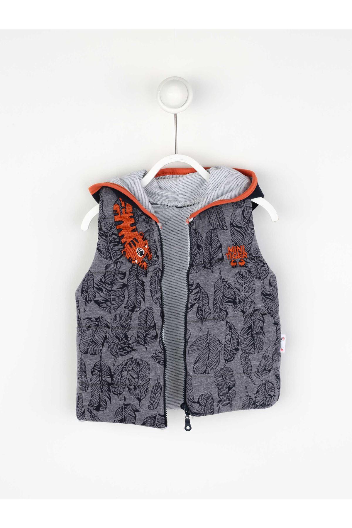 Navy blue Seasonal Male Baby Vest Suit