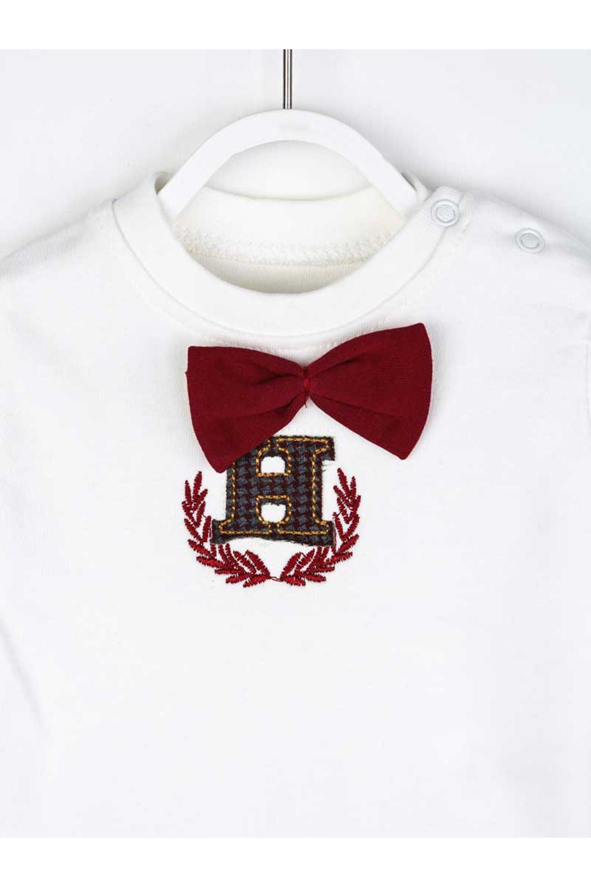 Burgundy Seasonal Bow Tie Baby Boy 3-Piece Set