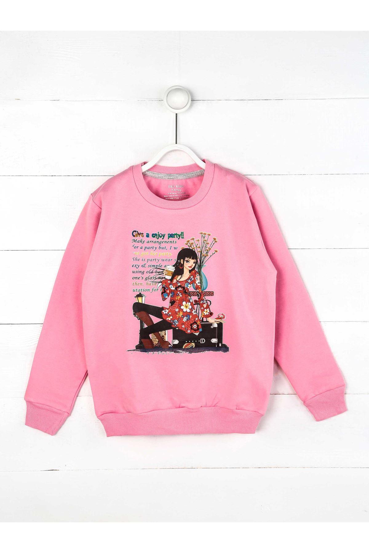 Light Pink Seasonal Girl Child Sweatshirt