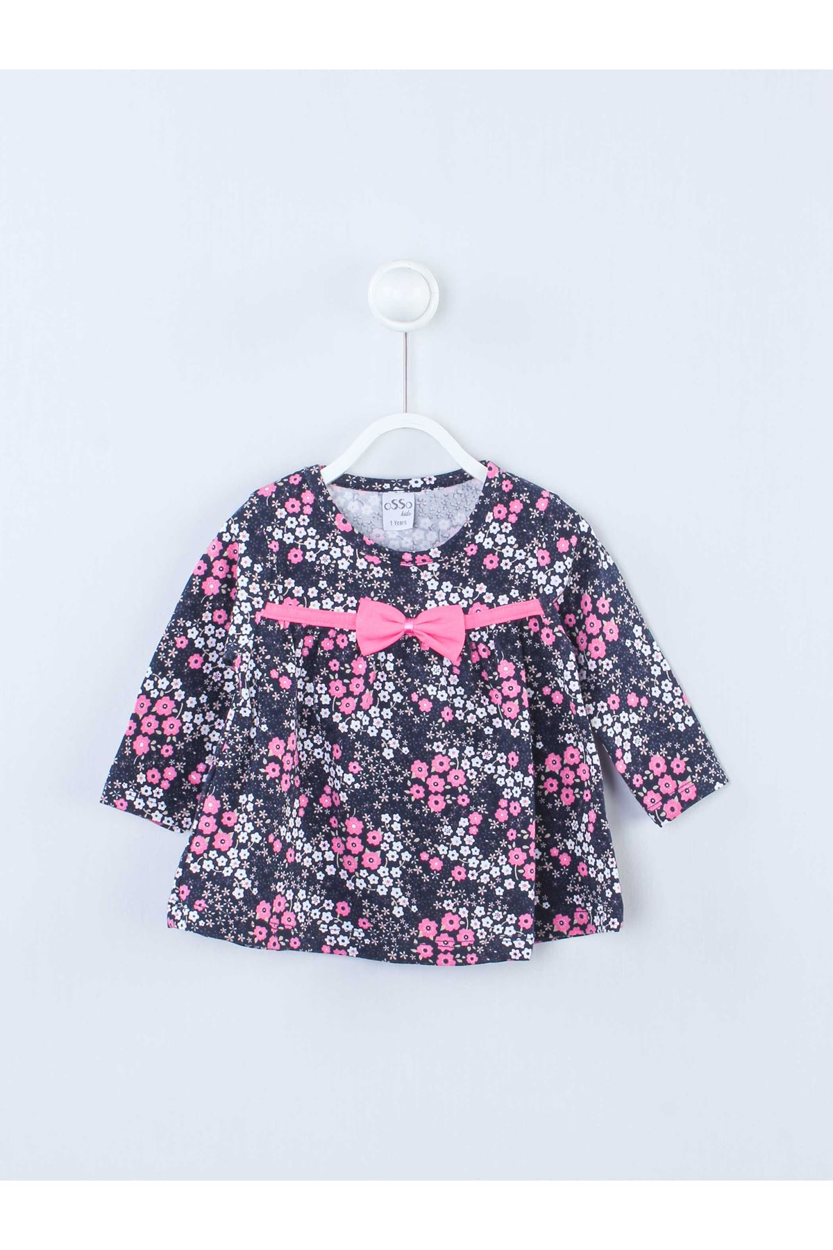 Fuchsia Kids Child girls tights suit top T-shirt tights cotton daily season wear outfit models