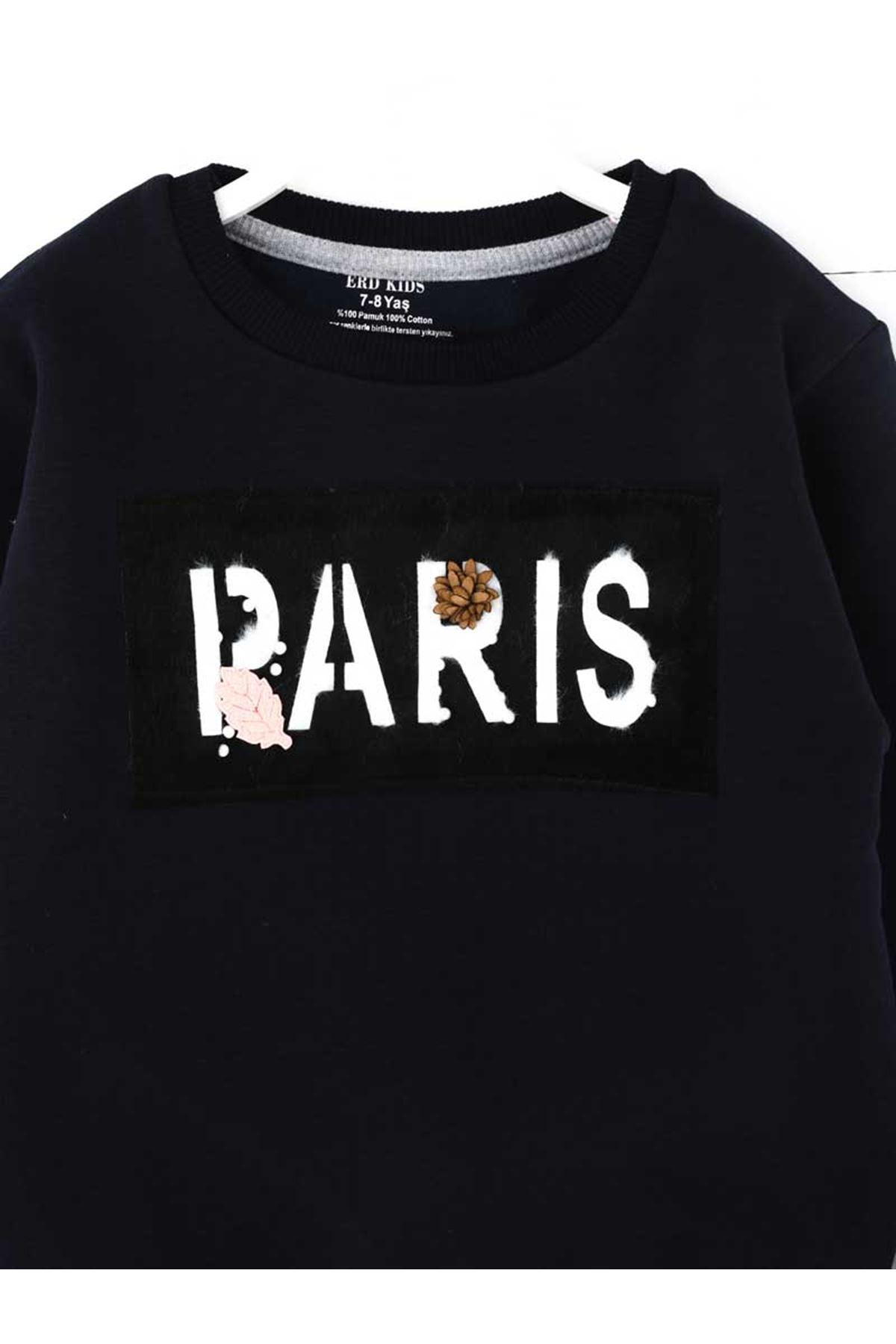 Dark Navy Blue Winter Girls Children Sweatshirts