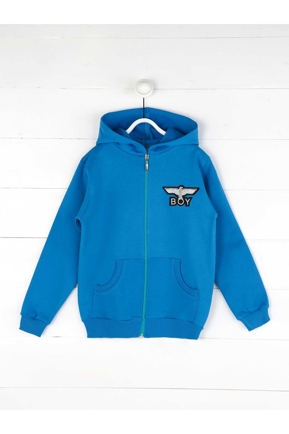 Blue Seasonal Male Child Sweatshirt