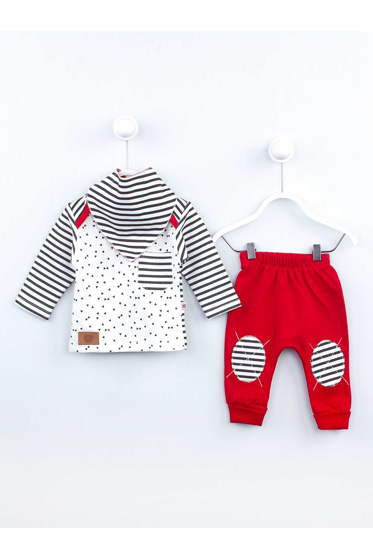 Red baby boy girl 3 piece suit set cotton daily casual babies clothing outfit girls boys style fashion models